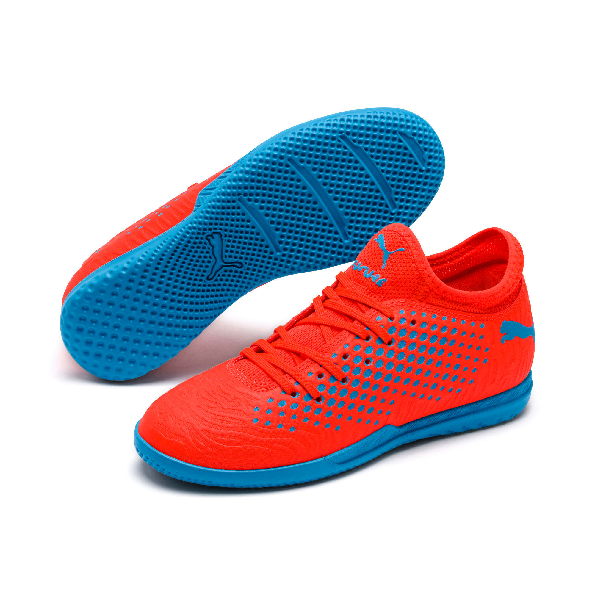Thumbnail 2 of FUTURE 19.4 IT Soccer Shoes JR, Red Blast-Bleu Azur, medium
