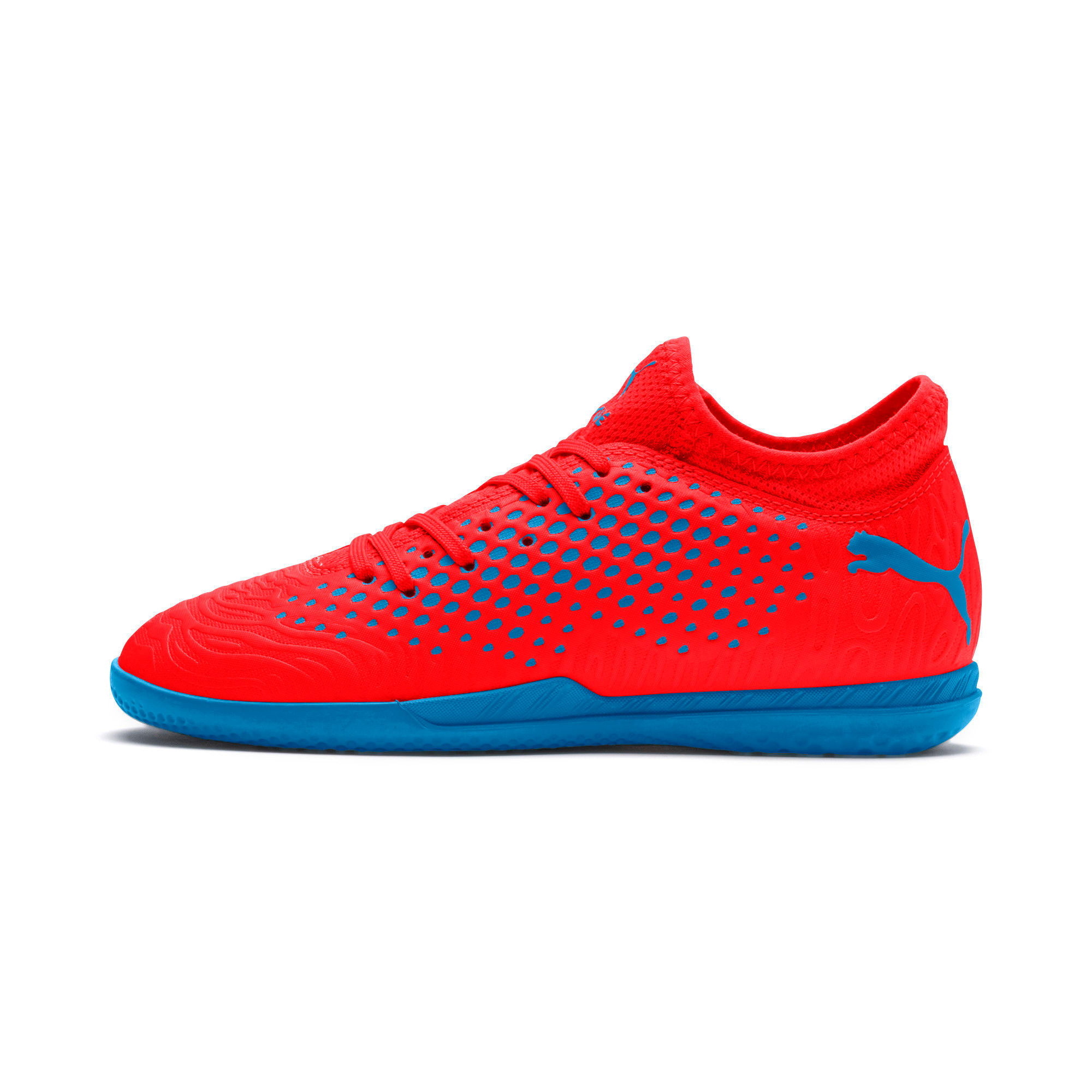Thumbnail 1 of FUTURE 19.4 IT Soccer Shoes JR, Red Blast-Bleu Azur, medium