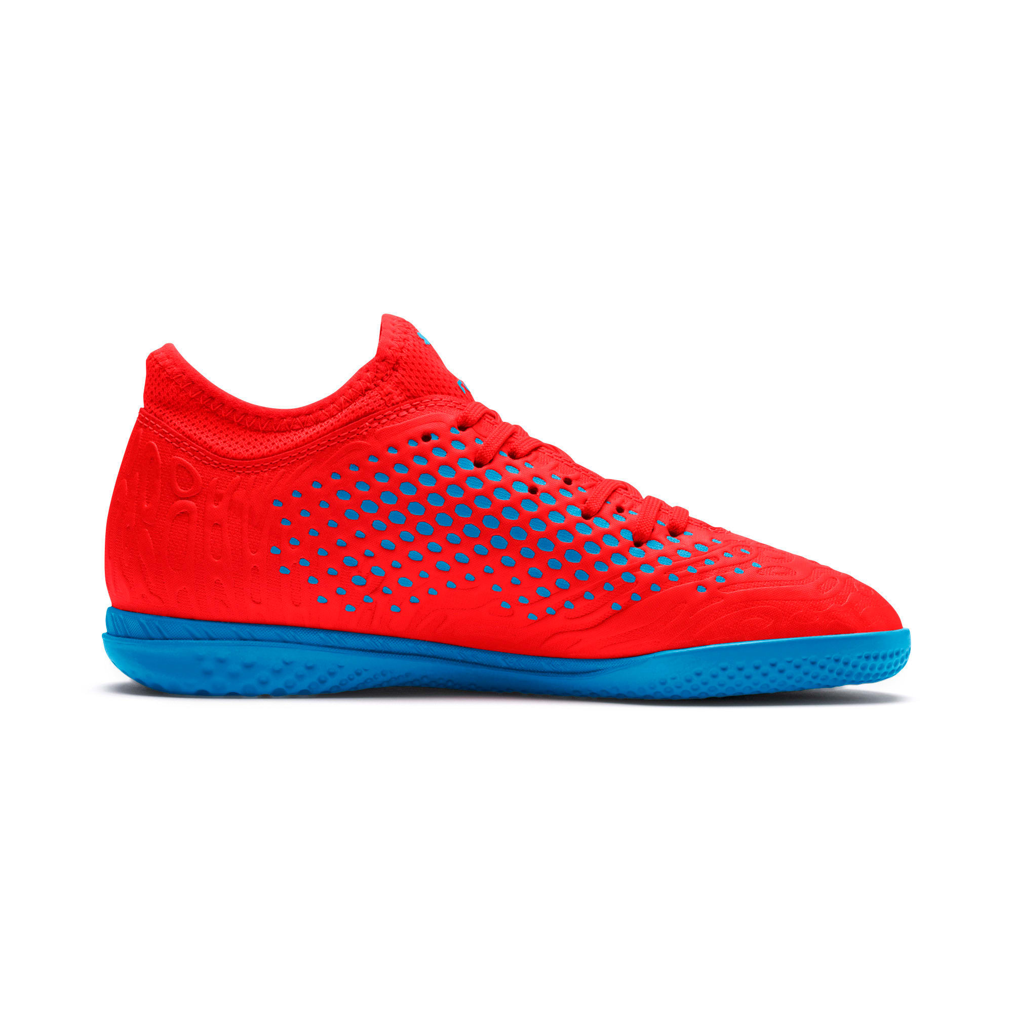 Thumbnail 5 of FUTURE 19.4 IT Soccer Shoes JR, Red Blast-Bleu Azur, medium