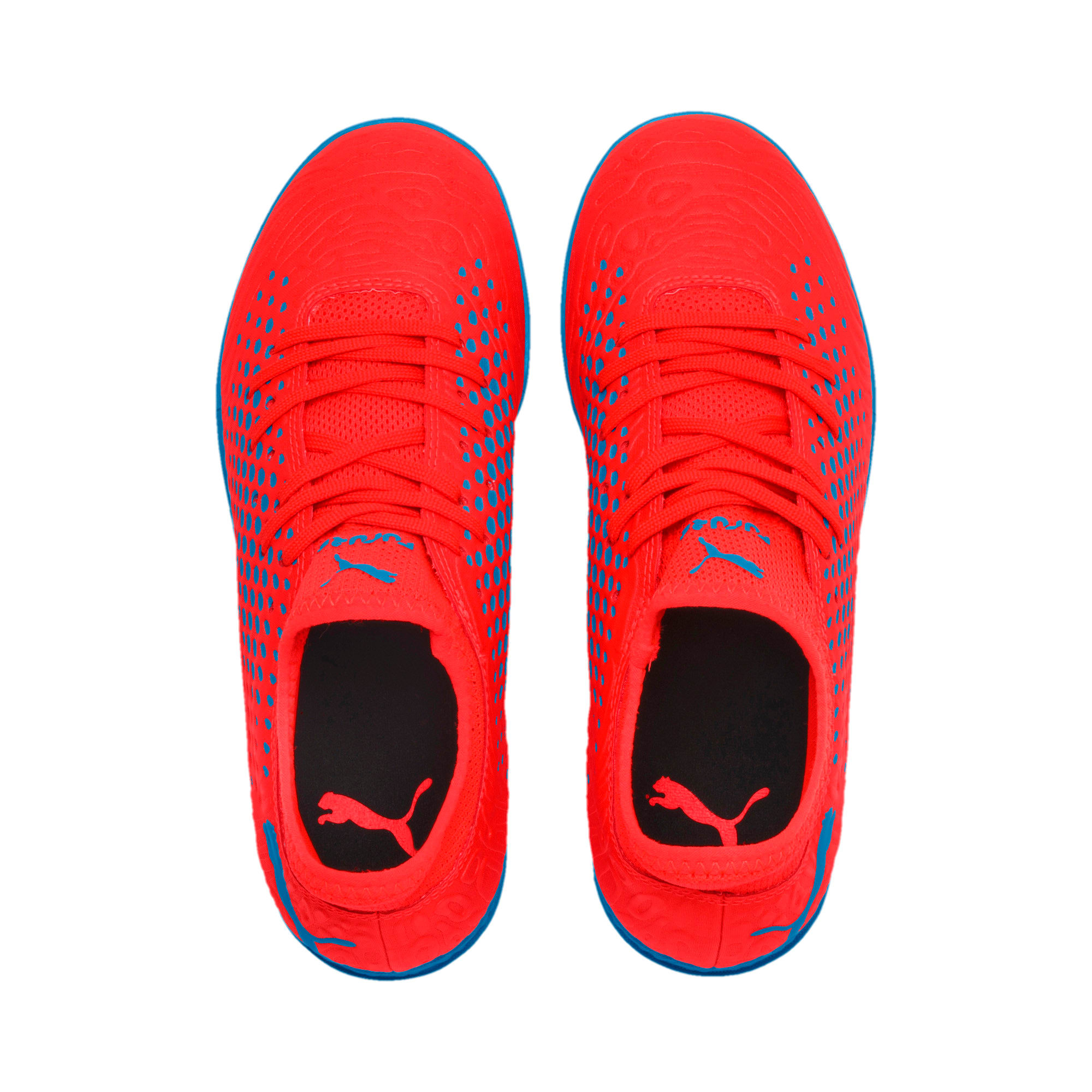 Thumbnail 6 of FUTURE 19.4 IT Soccer Shoes JR, Red Blast-Bleu Azur, medium