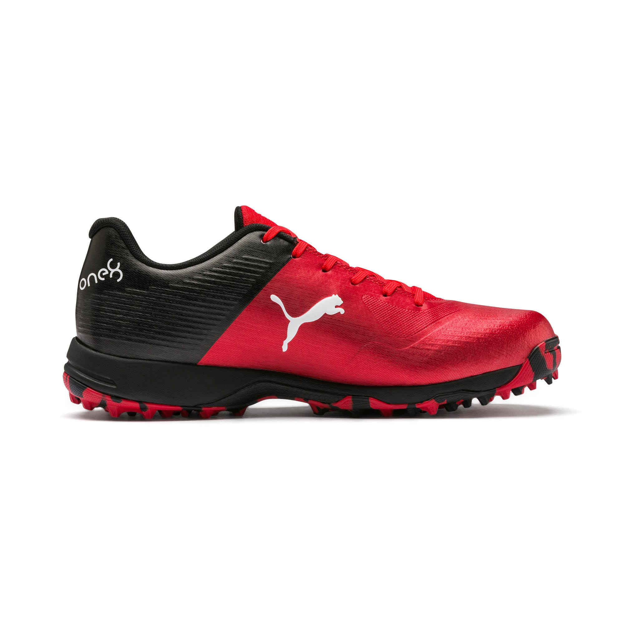 Thumbnail 5 of PUMA 19 FH Rubber Men's Cricket Shoes, High Risk Red-Black-White, medium-IND