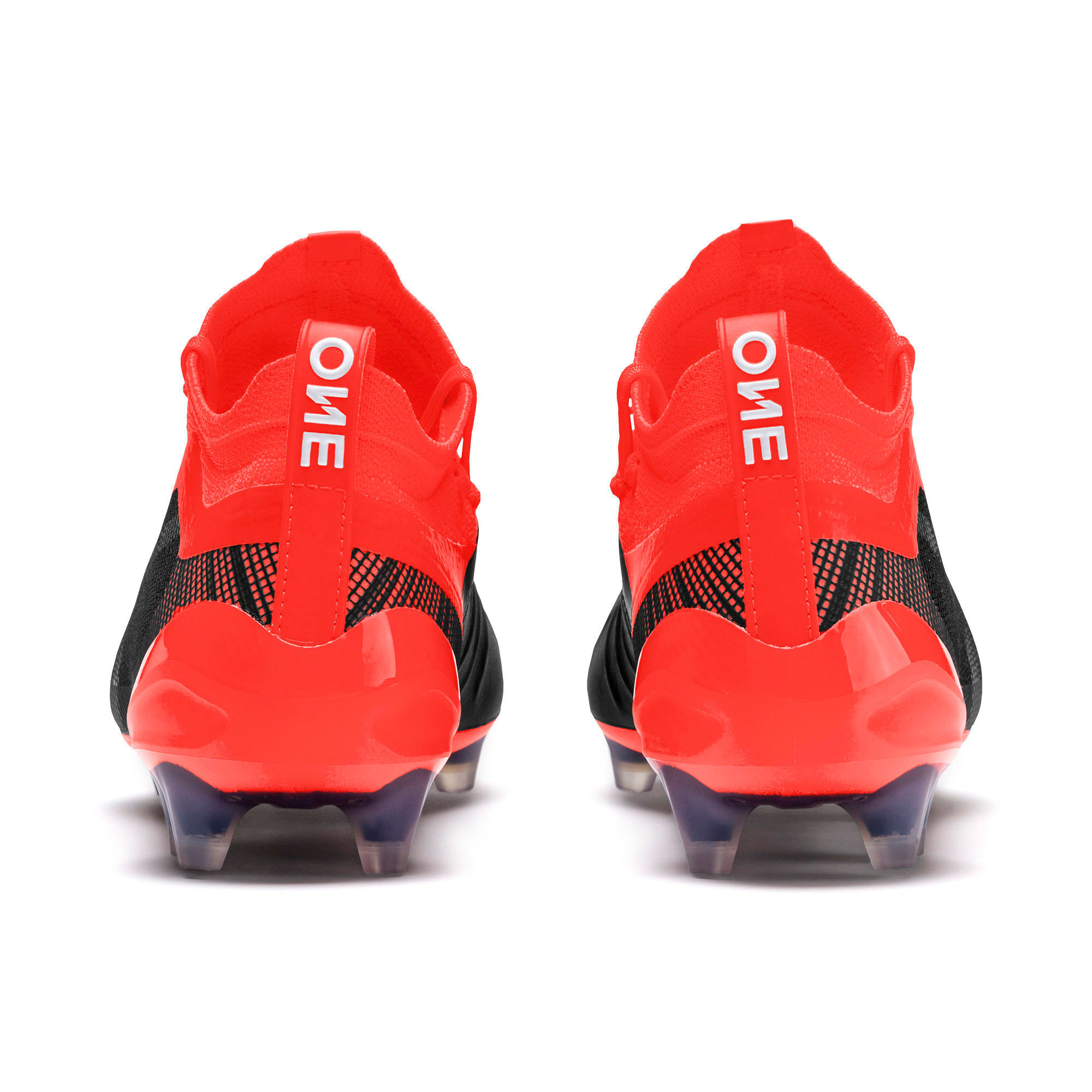 Thumbnail 5 of PUMA ONE 5.1 evoKNIT FG/AG Men's Football Boots, Black-Nrgy Red-Aged Silver, medium-IND