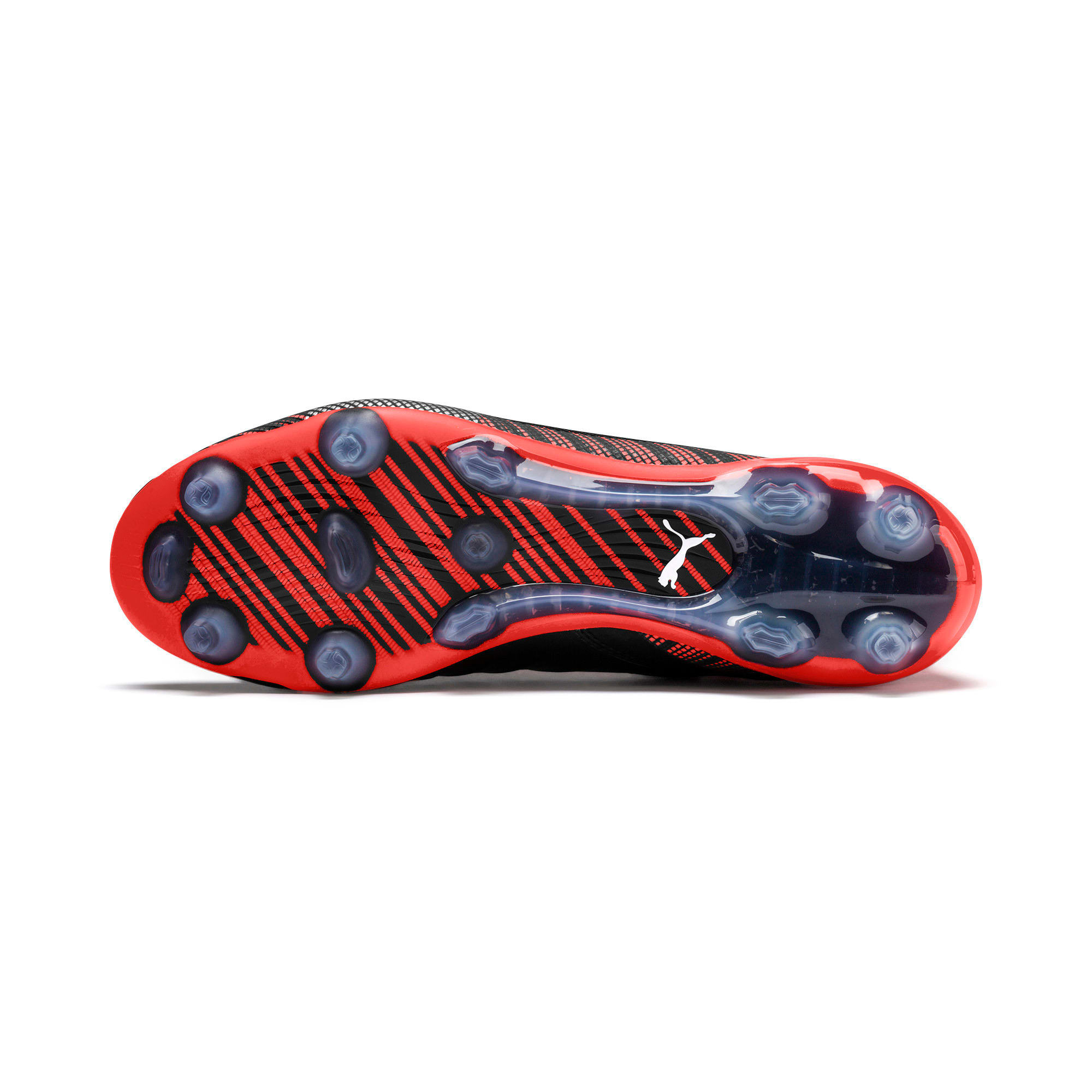 Thumbnail 6 of PUMA ONE 5.1 evoKNIT FG/AG Men's Football Boots, Black-Nrgy Red-Aged Silver, medium-IND
