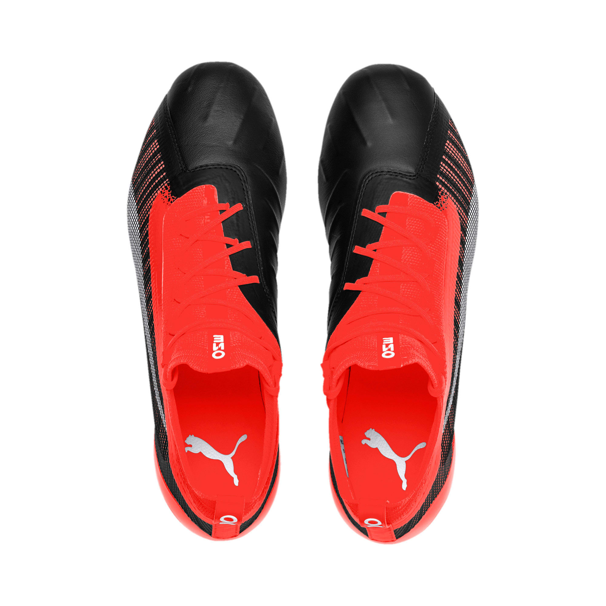 Thumbnail 8 of PUMA ONE 5.1 evoKNIT FG/AG Men's Football Boots, Black-Nrgy Red-Aged Silver, medium-IND