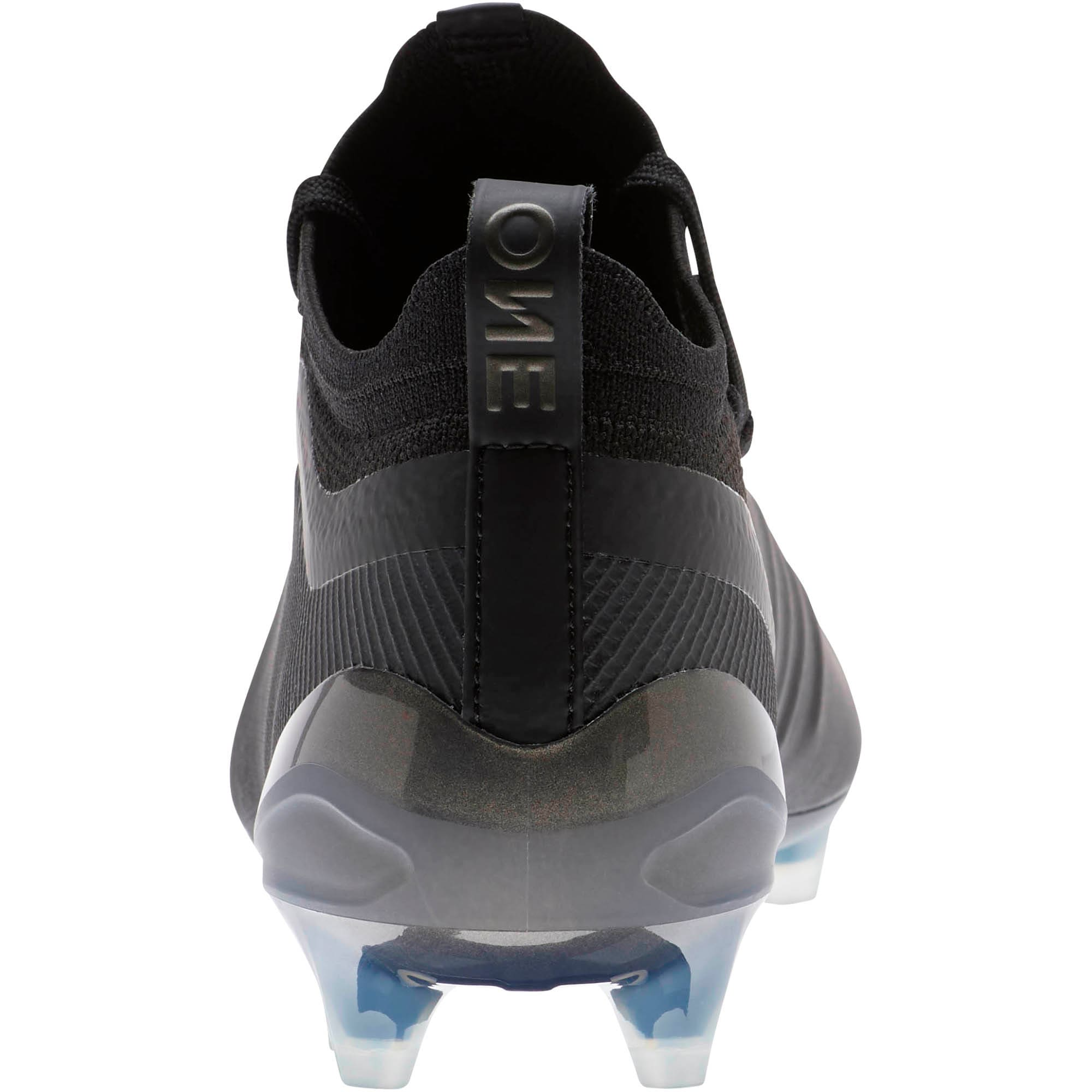 Thumbnail 3 of PUMA ONE 5.1 FG/AG Men's Soccer Cleats, Black-Black-Puma Aged Silver, medium