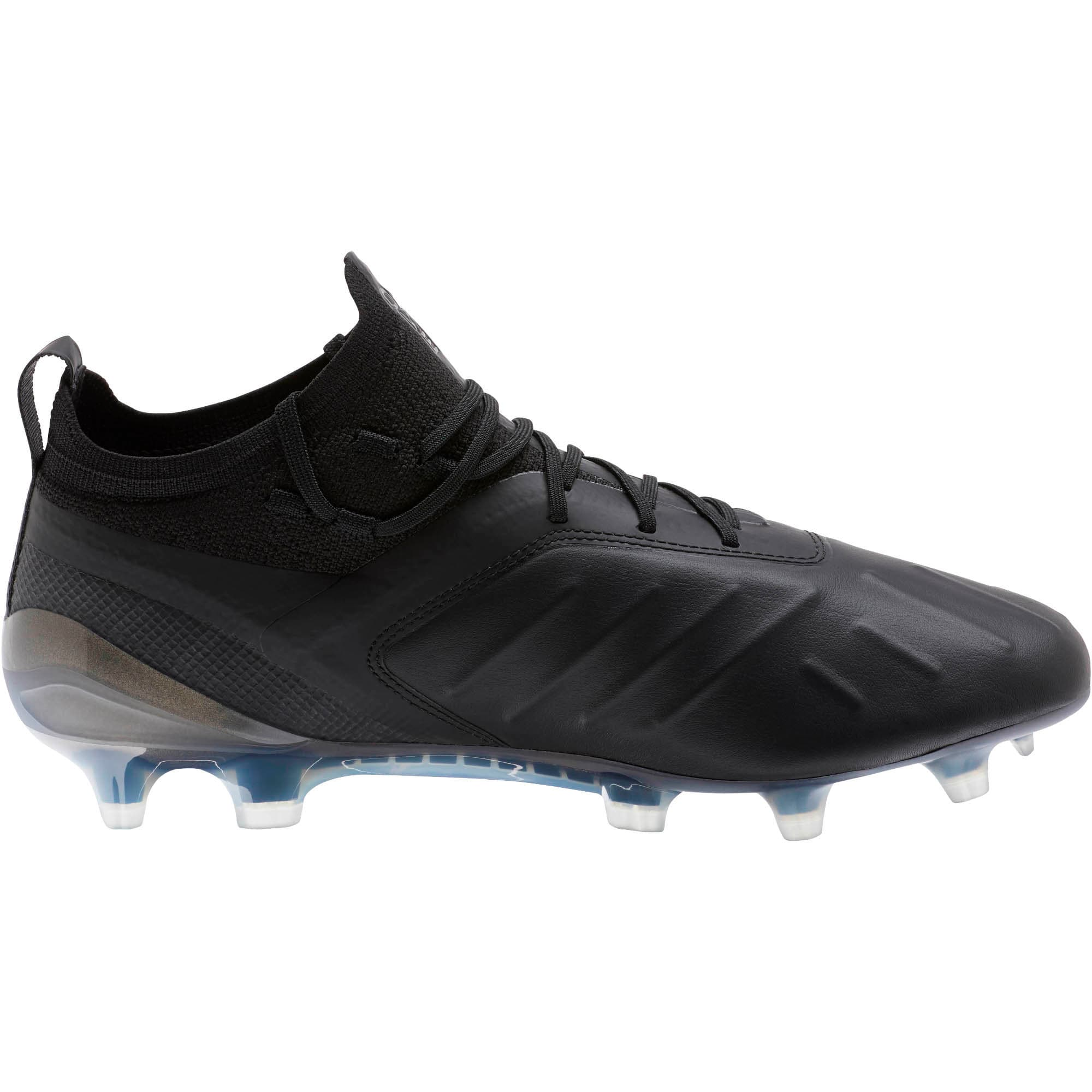 Thumbnail 4 of PUMA ONE 5.1 FG/AG Men's Soccer Cleats, Black-Black-Puma Aged Silver, medium