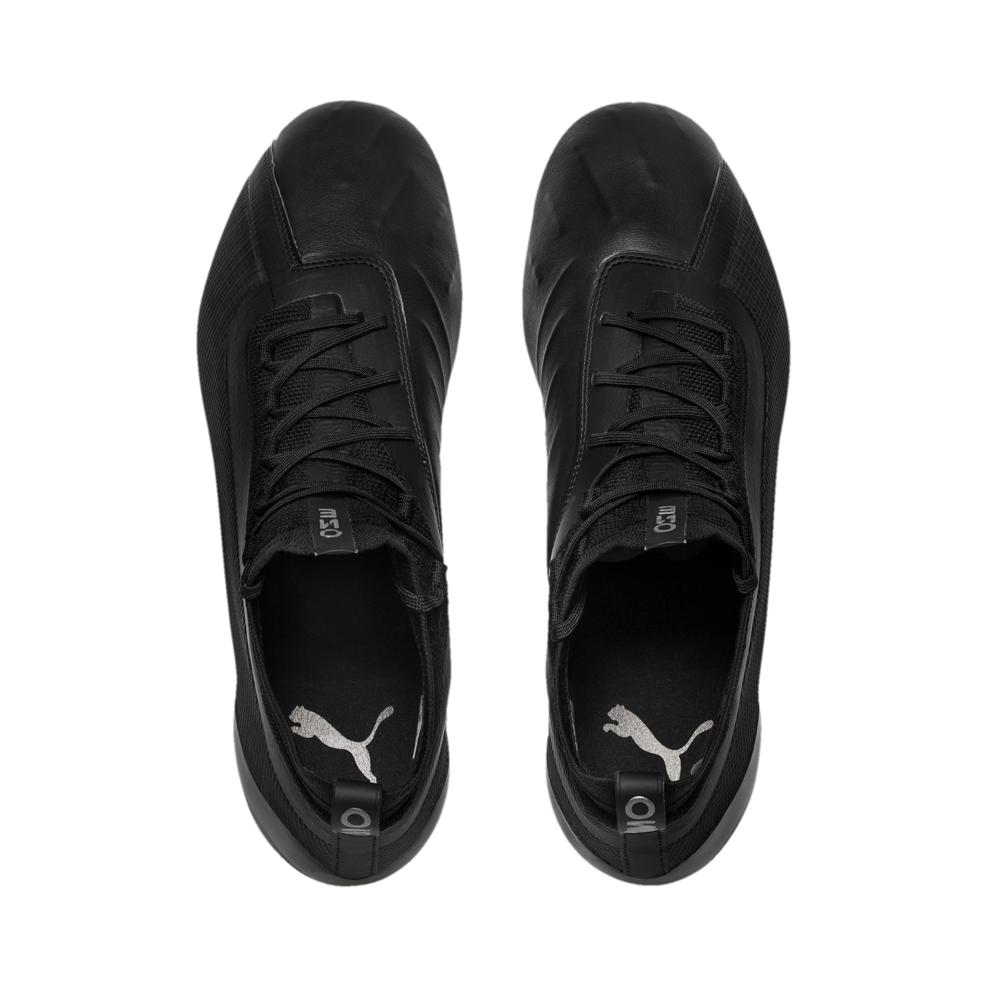 Thumbnail 6 of PUMA ONE 5.1 evoKNIT FG/AG Men's Football Boots, Black-Black-Puma Aged Silver, medium