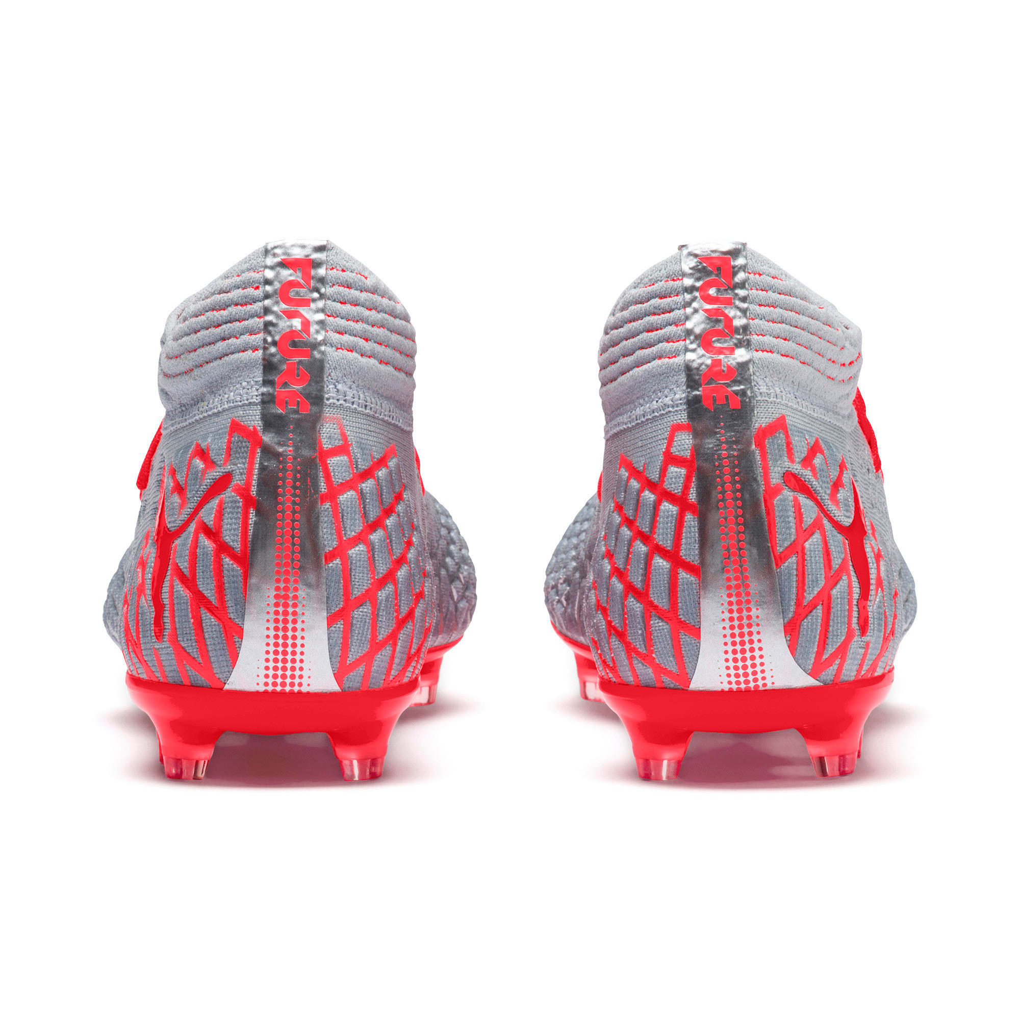 Thumbnail 4 of FUTURE 4.1 NETFIT FG/AG Men's Soccer Cleats, Blue-Nrgy Red-High Risk Red, medium