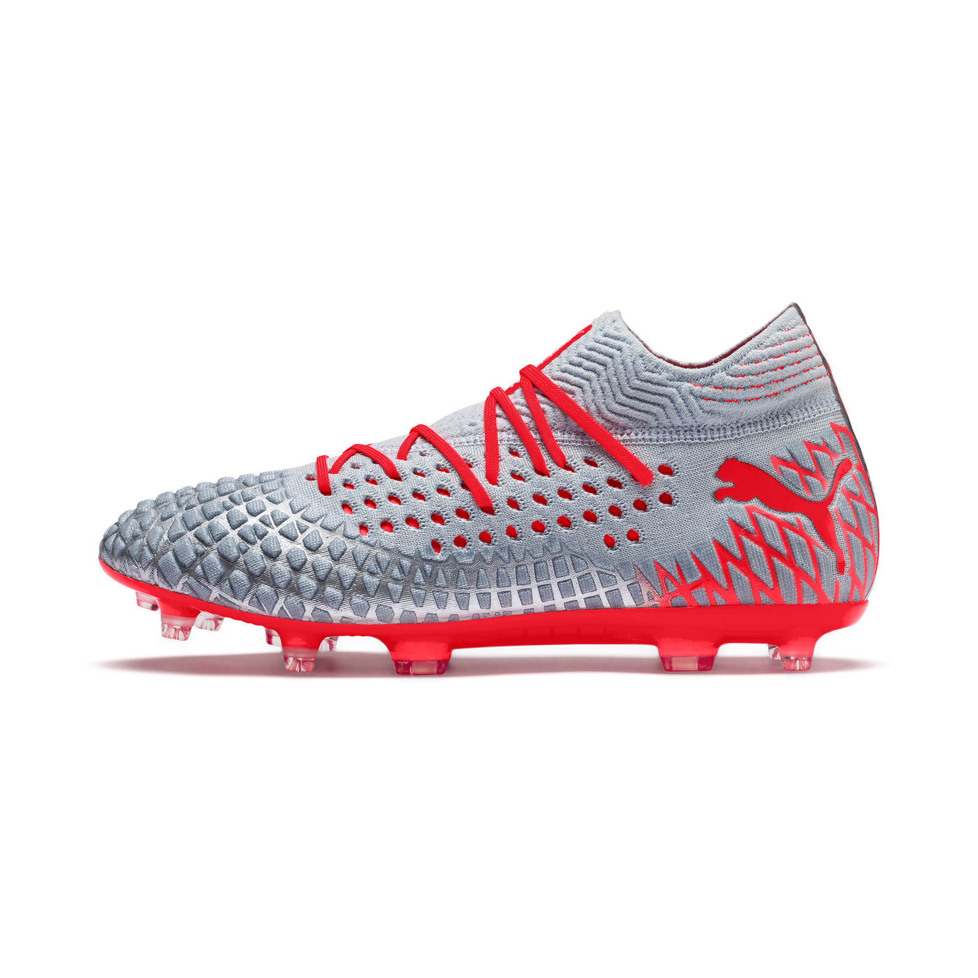 Thumbnail 1 of FUTURE 4.1 NETFIT FG/AG Men's Soccer Cleats, Blue-Nrgy Red-High Risk Red, medium