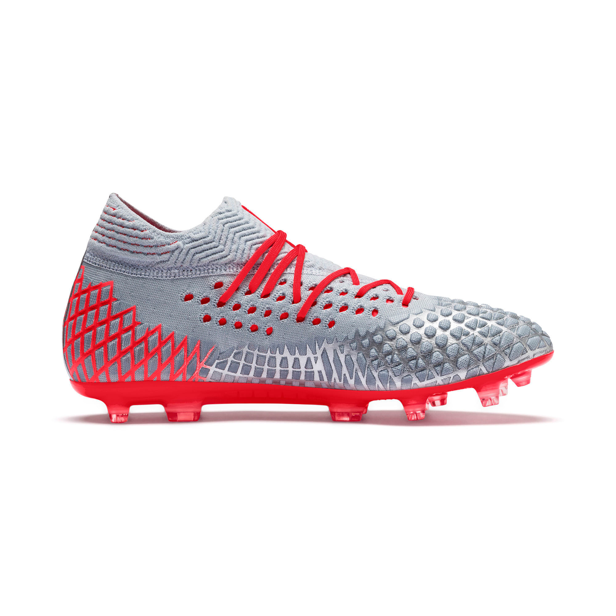 Thumbnail 6 of FUTURE 4.1 NETFIT FG/AG Men's Soccer Cleats, Blue-Nrgy Red-High Risk Red, medium