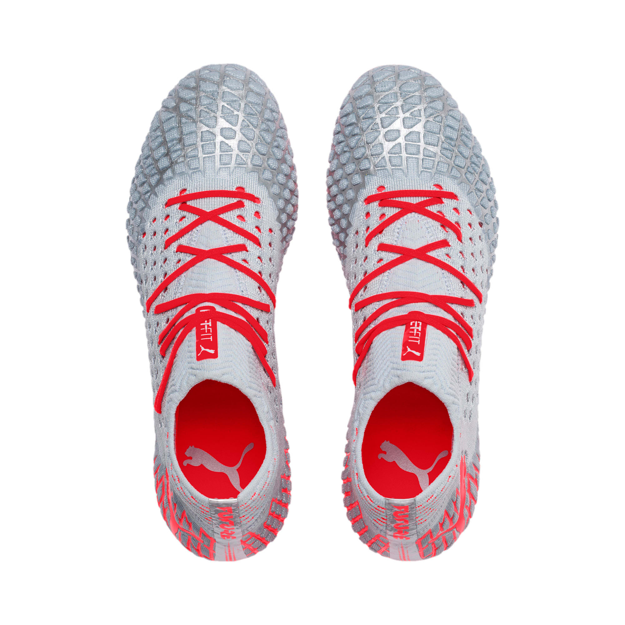 Thumbnail 7 of FUTURE 4.1 NETFIT FG/AG Men's Soccer Cleats, Blue-Nrgy Red-High Risk Red, medium