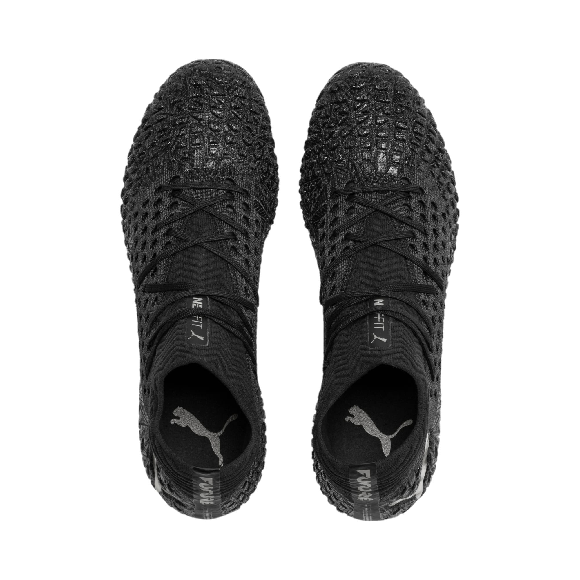 Thumbnail 7 of FUTURE 4.1 NETFIT FG/AG Men's Soccer Cleats, Black-Black-Puma Aged Silver, medium