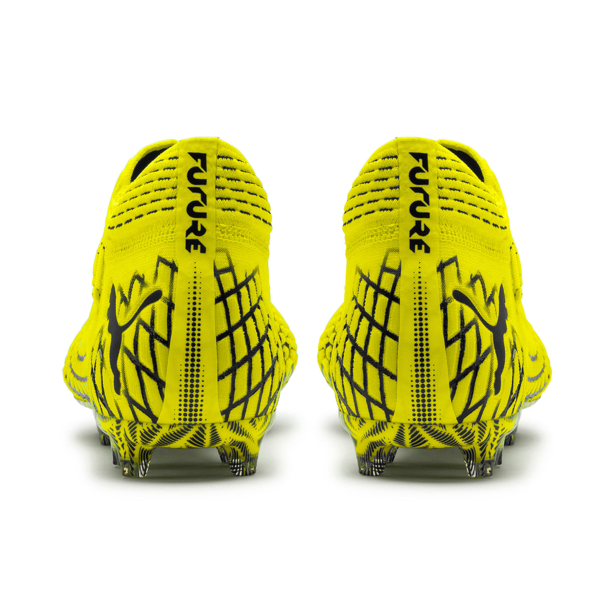 Thumbnail 3 of FUTURE 4.1 NETFIT FG/AG Men's Football Boots, Yellow Alert-Puma Black, medium