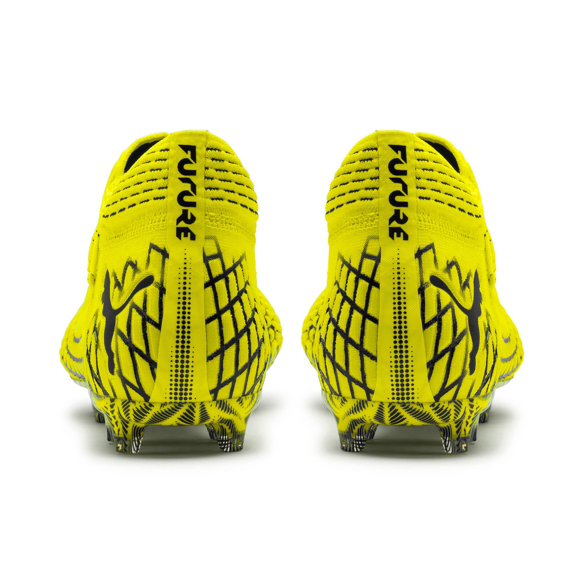 Thumbnail 3 of FUTURE 4.1 NETFIT FG/AG Men's Soccer Cleats, Yellow Alert-Puma Black, medium