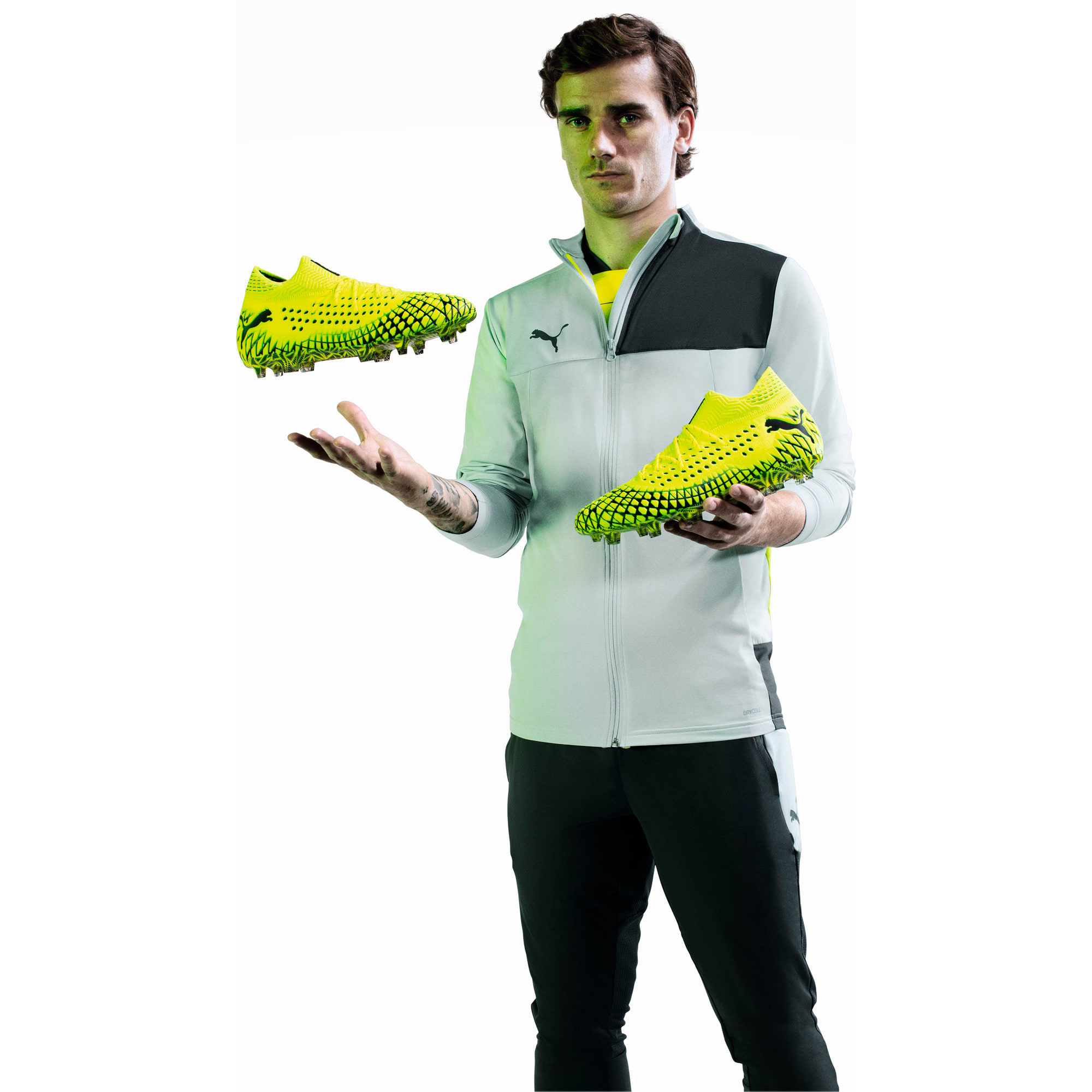 Thumbnail 8 of FUTURE 4.1 NETFIT FG/AG Men's Football Boots, Yellow Alert-Puma Black, medium