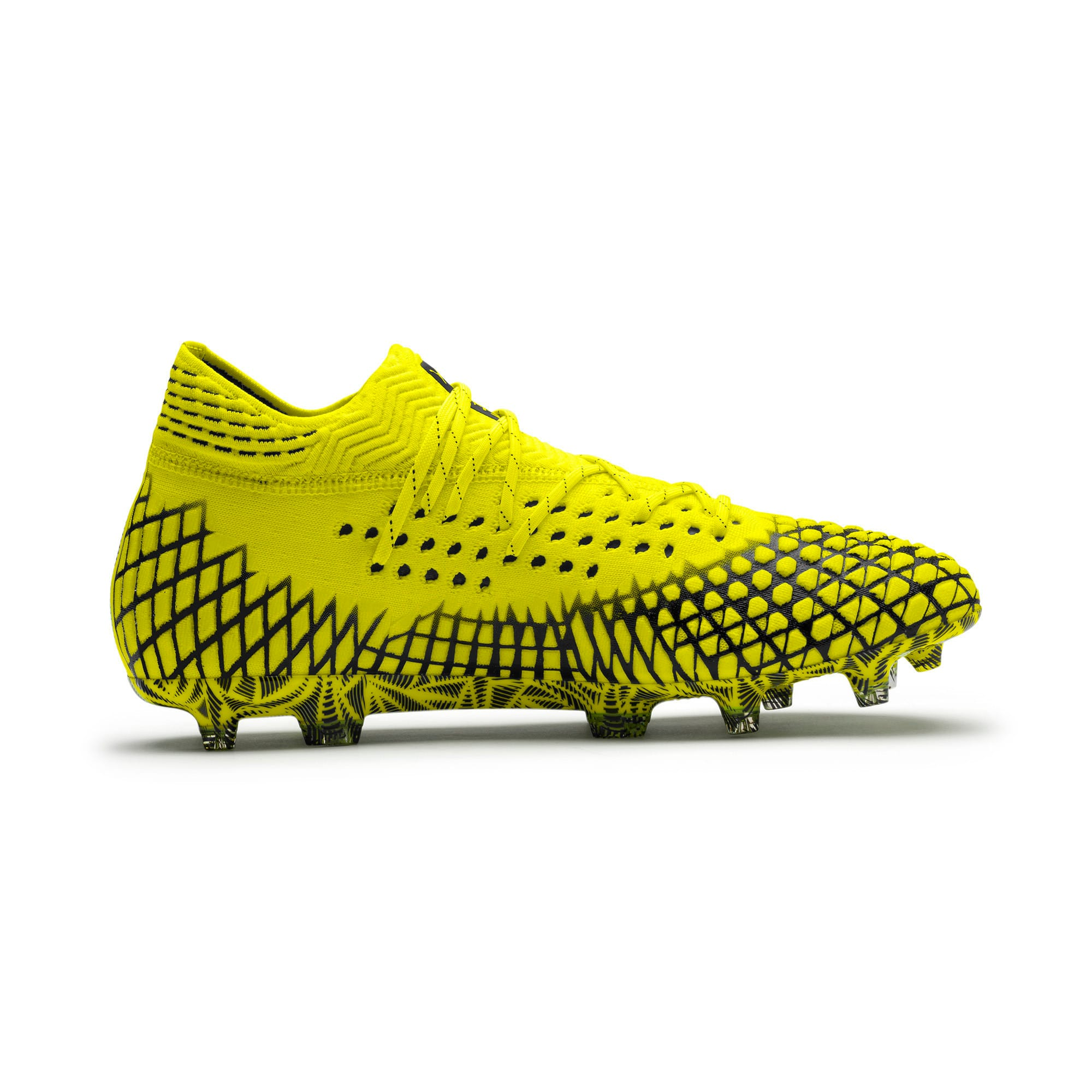 Thumbnail 5 of FUTURE 4.1 NETFIT FG/AG Men's Football Boots, Yellow Alert-Puma Black, medium