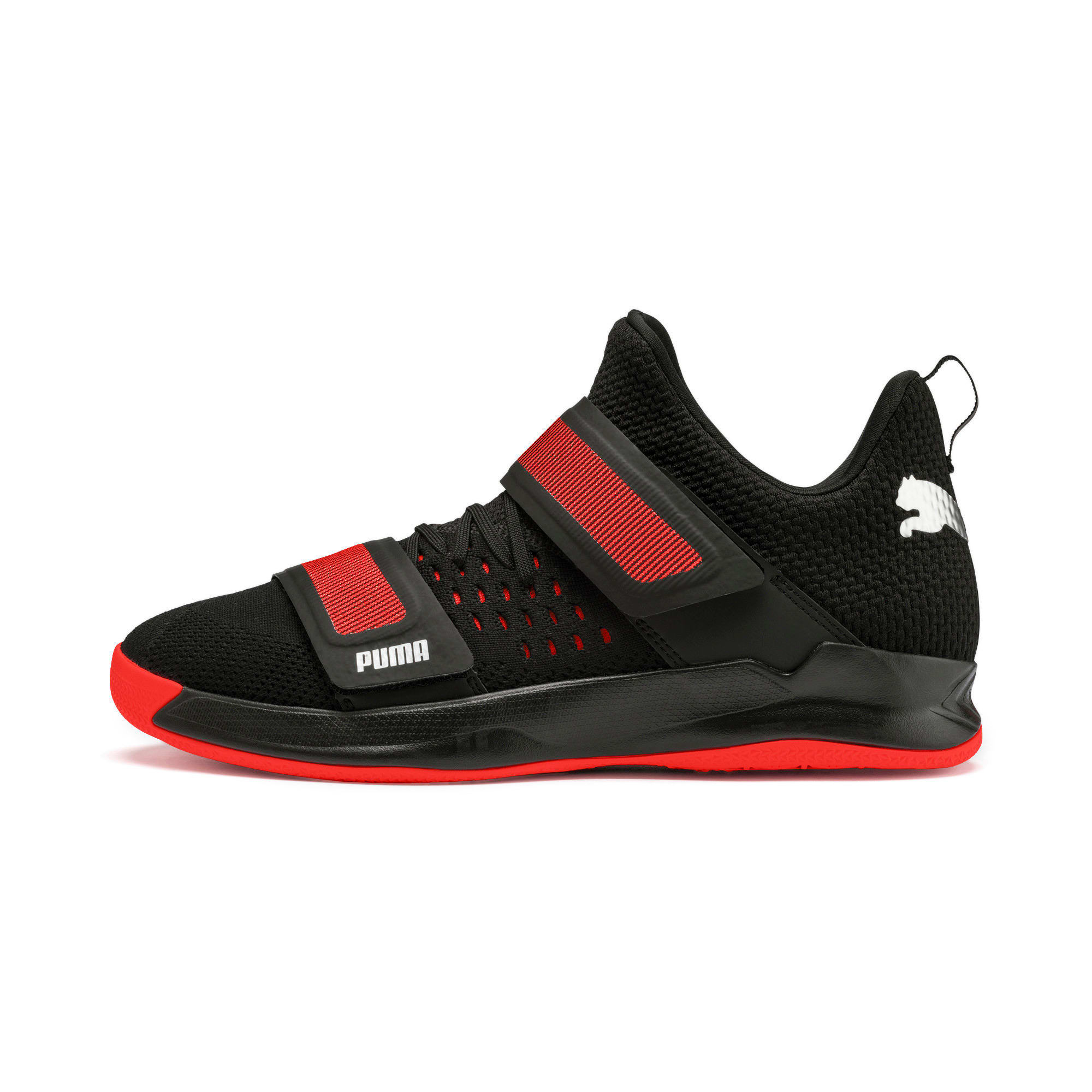 Thumbnail 1 of Basket Rise XT3 NETFIT, Puma Black-Silver-Nrgy Red, medium