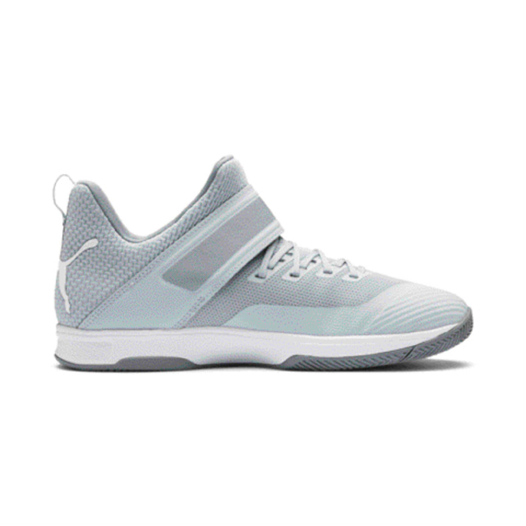 Thumbnail 5 of Rise XT3 Handball Shoes, Grey Dawn-White-Tradewinds, medium-IND