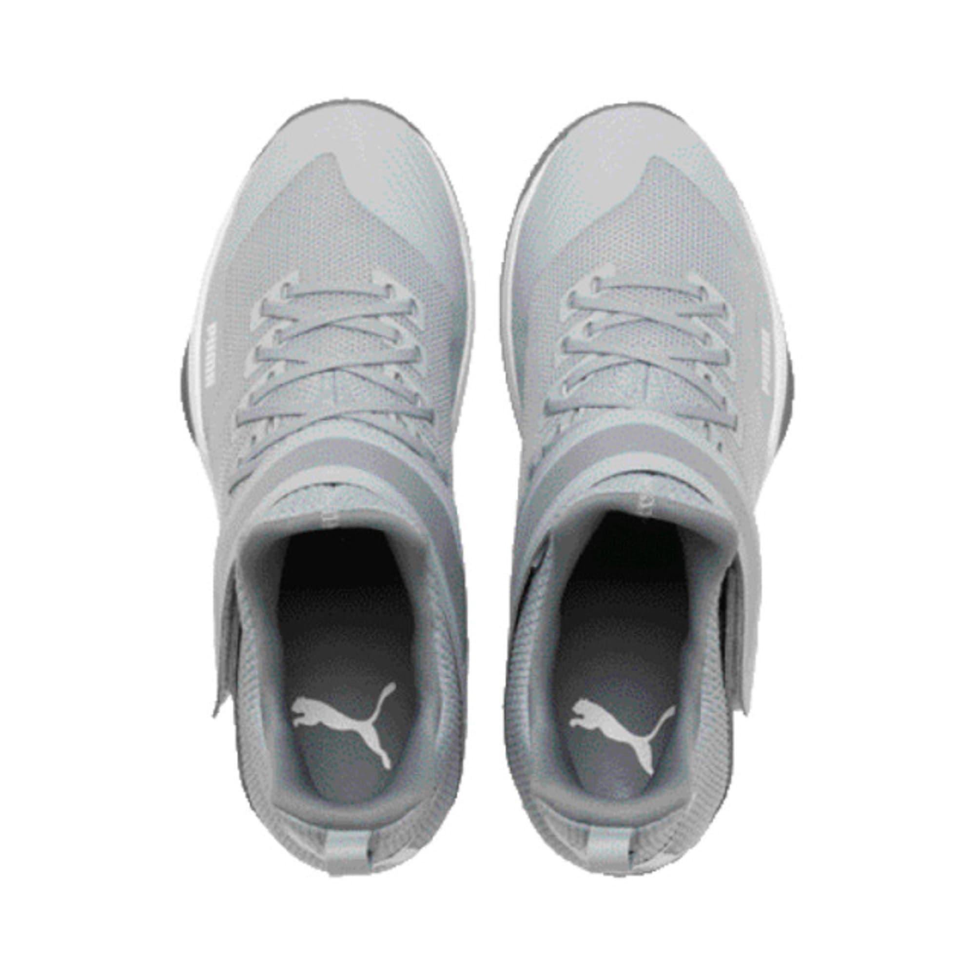 Thumbnail 4 of Rise XT3 Handball Shoes, Grey Dawn-White-Tradewinds, medium-IND
