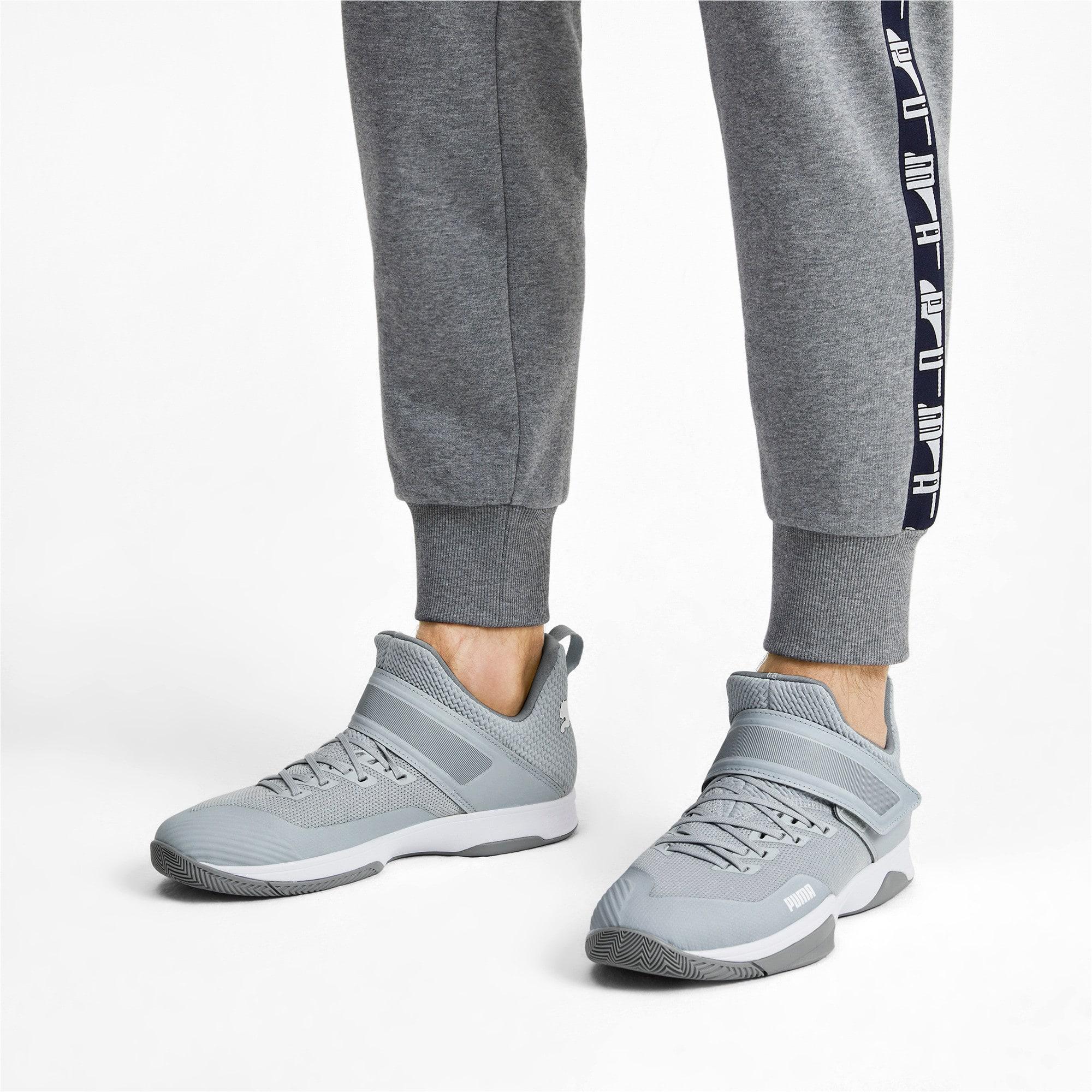 Thumbnail 3 of Rise XT3 Handball Shoes, Grey Dawn-White-Tradewinds, medium-IND