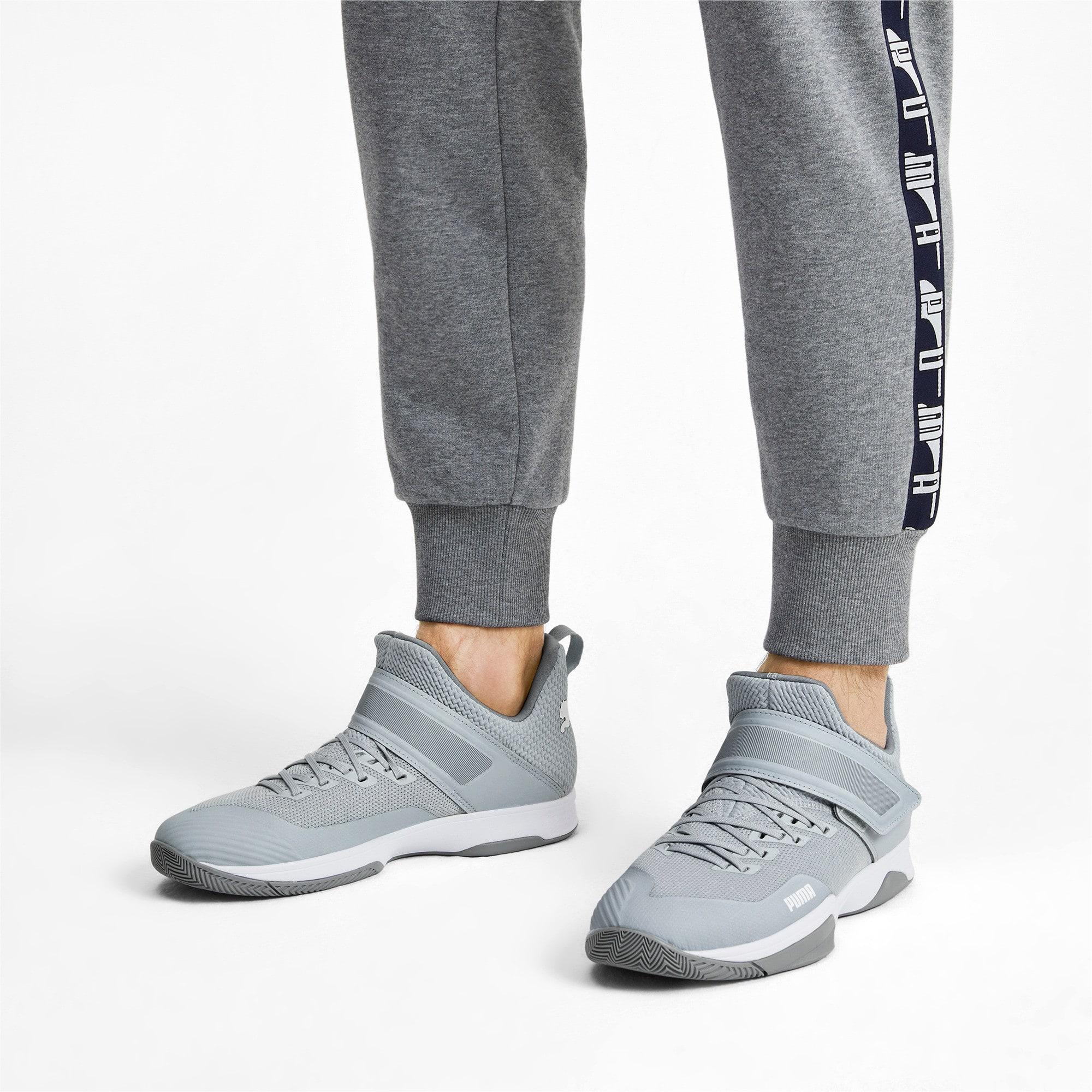 Thumbnail 2 of Rise XT3 Handball Shoes, Grey Dawn-White-Tradewinds, medium-IND