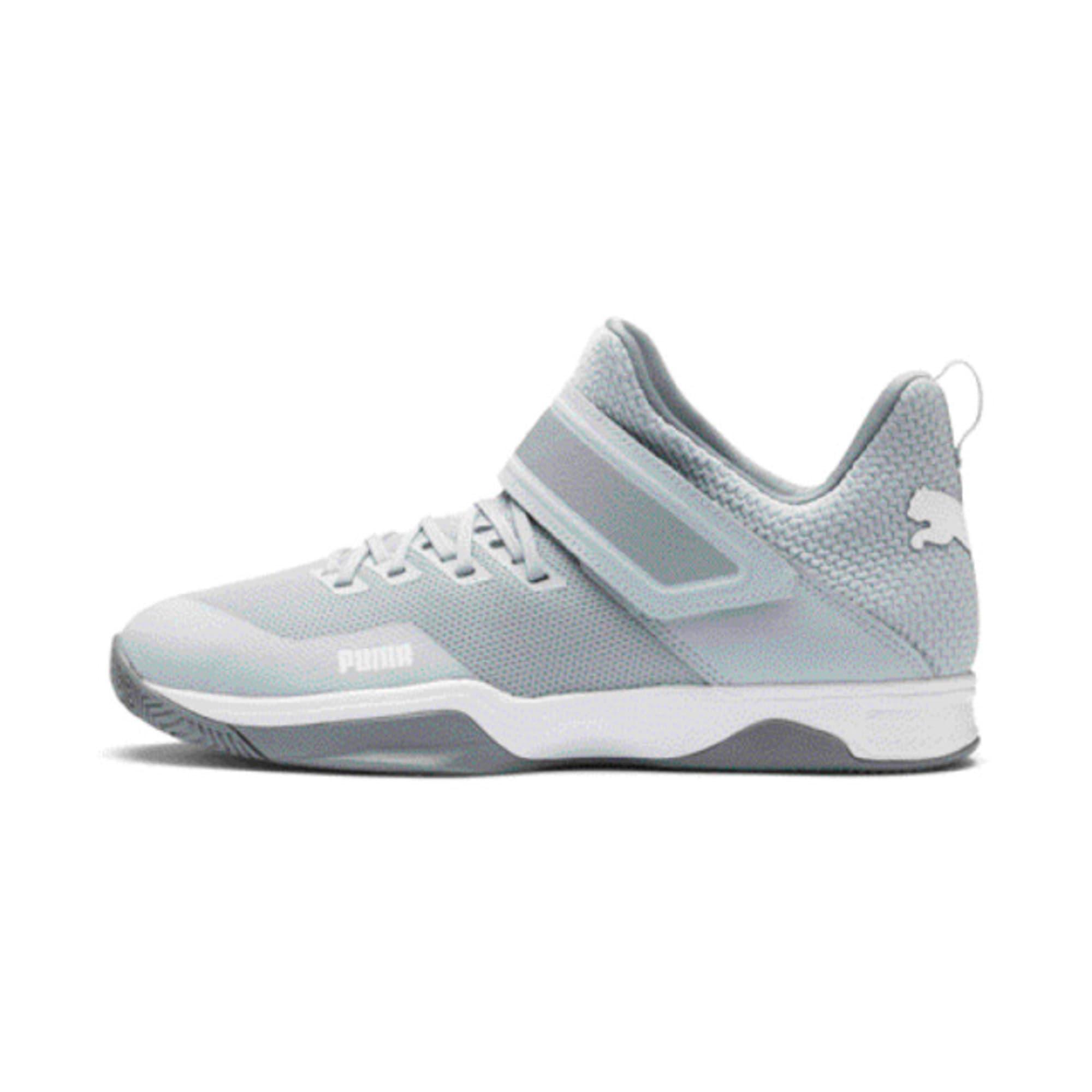 Thumbnail 1 of Rise XT3 Handball Shoes, Grey Dawn-White-Tradewinds, medium-IND