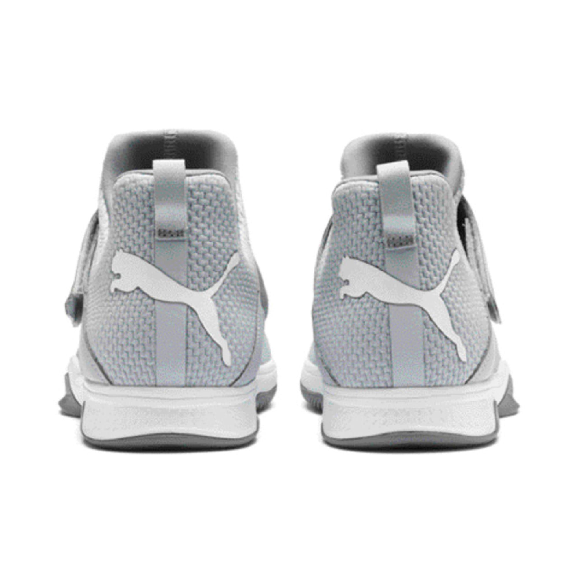 Thumbnail 6 of Rise XT3 Handball Shoes, Grey Dawn-White-Tradewinds, medium-IND