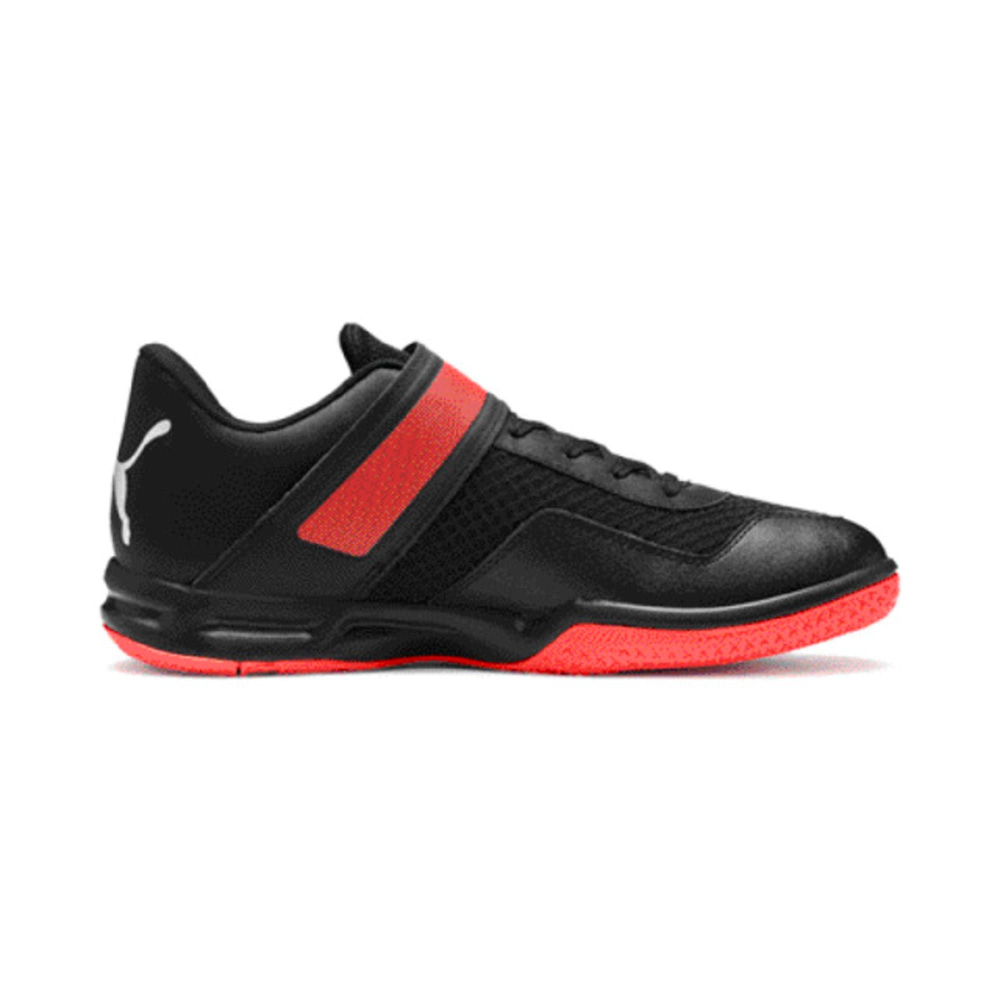 Thumbnail 5 of Rise XT 4 Men's Indoor Sports Trainers, Puma Black-Silver-Nrgy Red, medium-IND