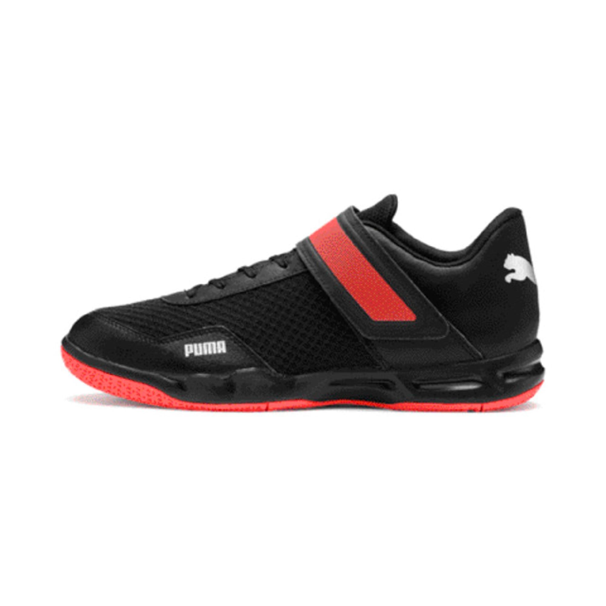 Thumbnail 1 of Rise XT 4 Men's Indoor Sports Trainers, Puma Black-Silver-Nrgy Red, medium-IND