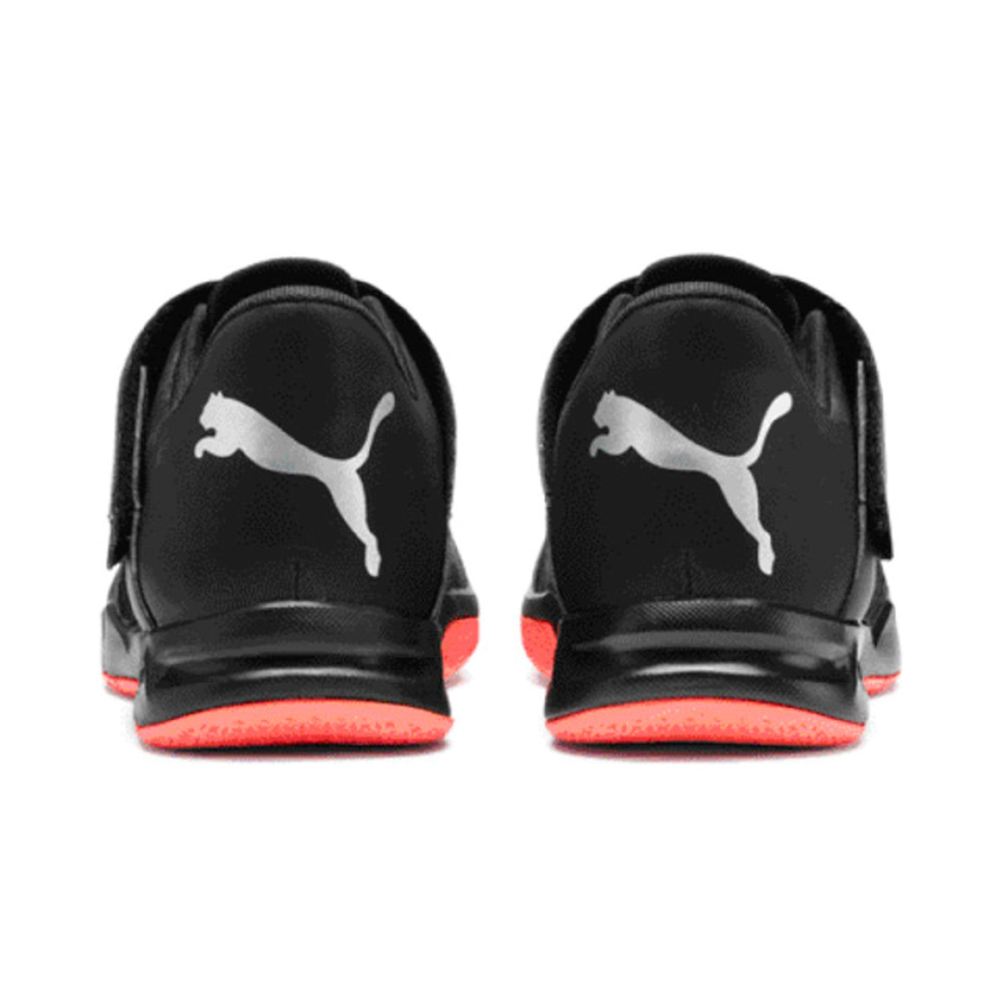 Thumbnail 6 of Rise XT 4 Men's Indoor Sports Trainers, Puma Black-Silver-Nrgy Red, medium-IND