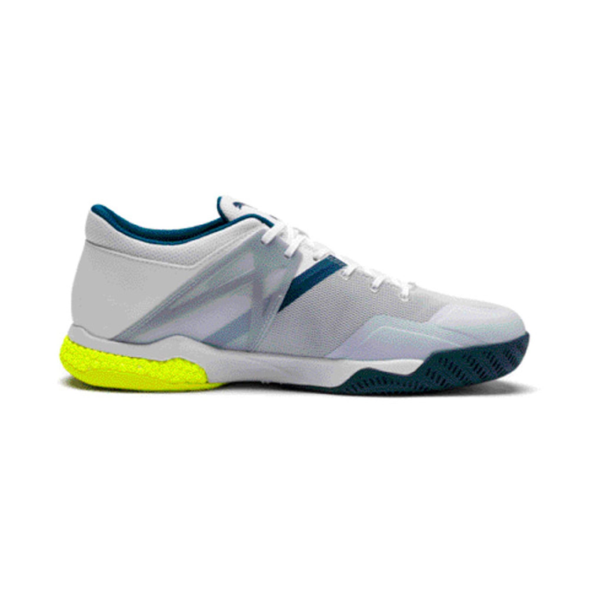 Thumbnail 5 of Explode XT Hybrid 2 Handball Shoes, White-Grey-Yellow-Gibraltar, medium-IND