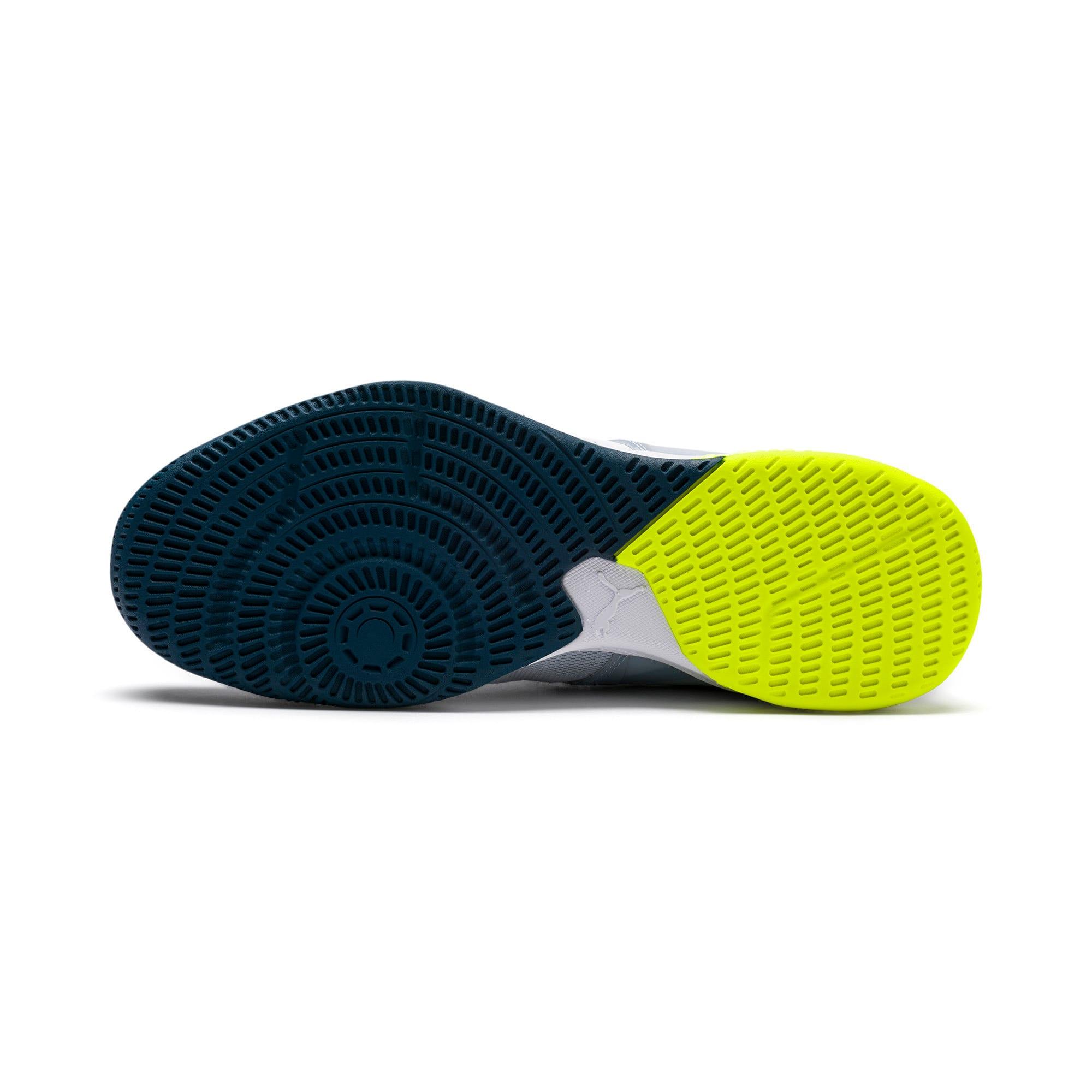 Thumbnail 6 of Explode XT Hybrid 2 Handball Shoes, White-Grey-Yellow-Gibraltar, medium-IND