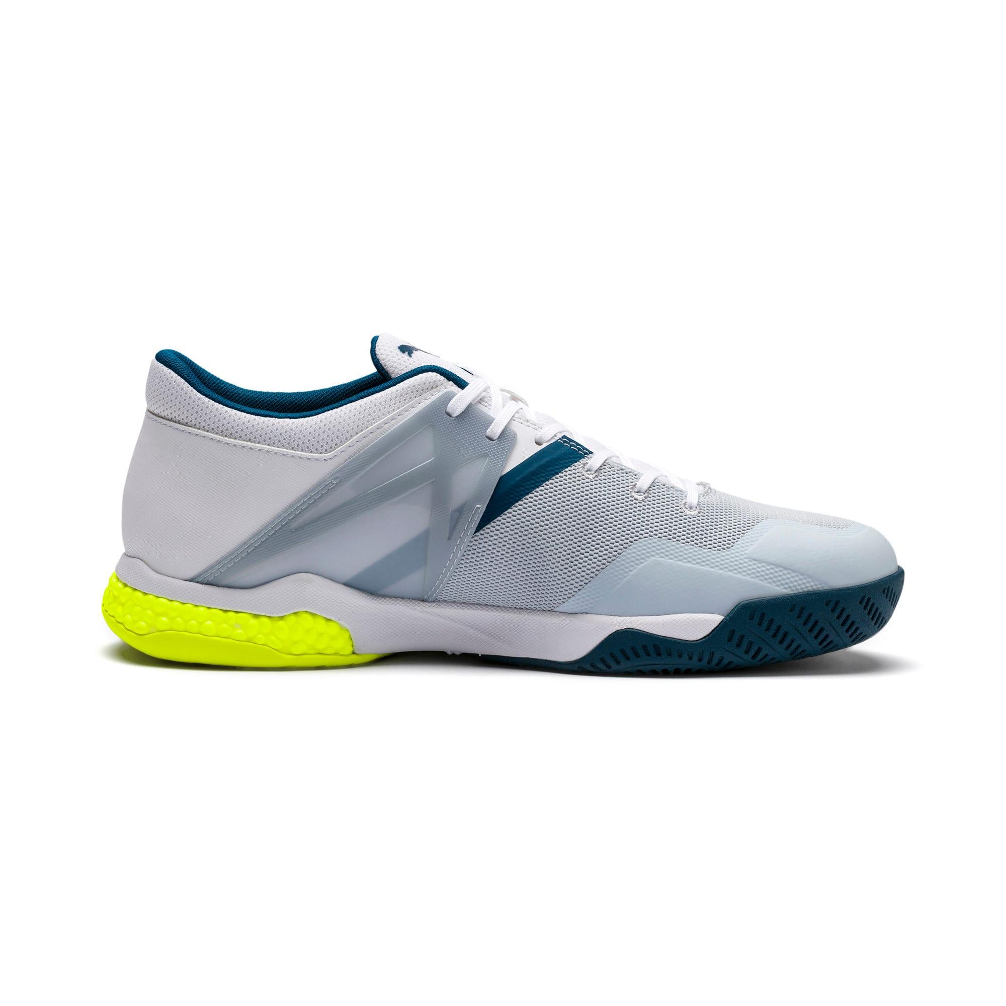 Thumbnail 7 of Explode XT Hybrid 2 Handball Shoes, White-Grey-Yellow-Gibraltar, medium-IND