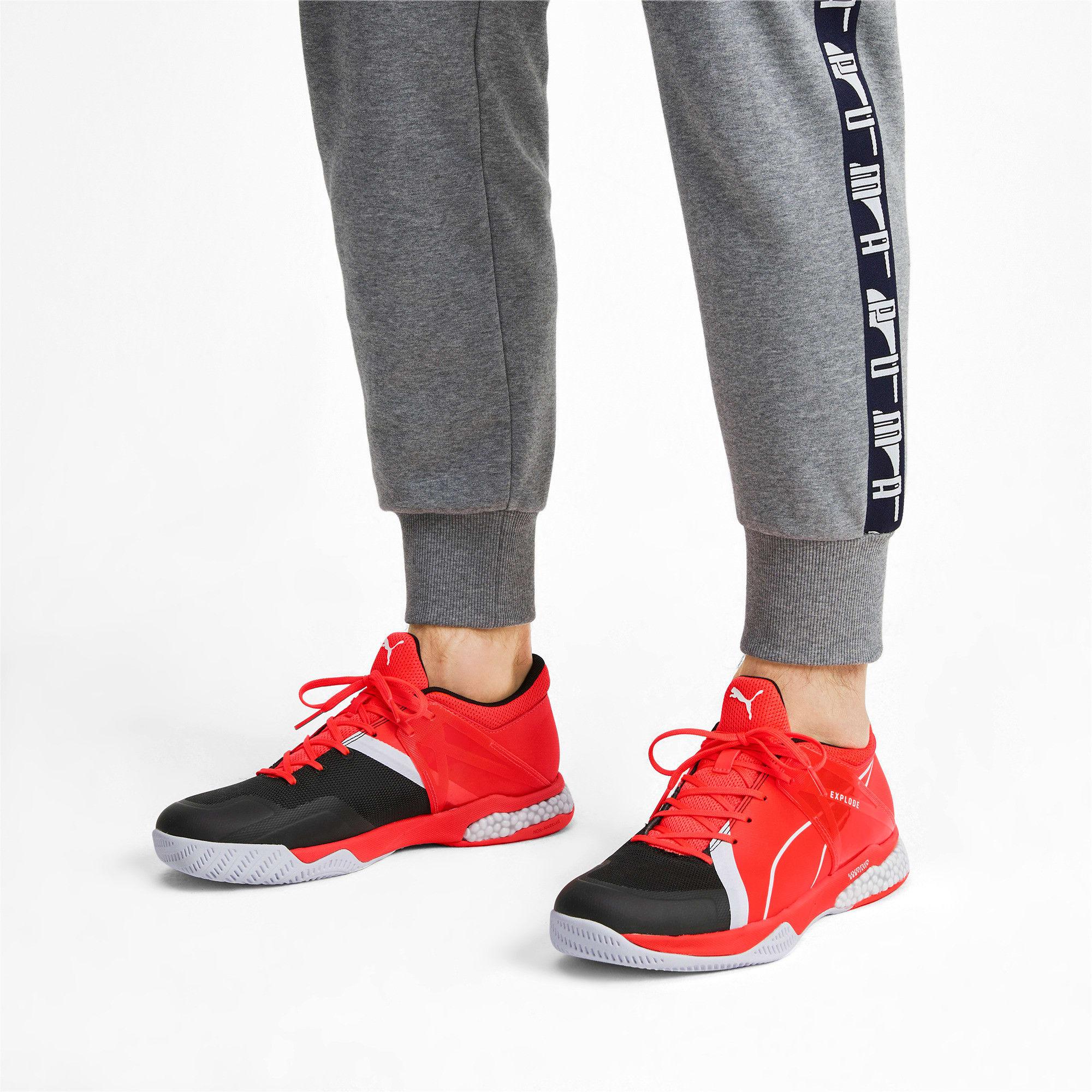 Thumbnail 2 of Chaussures Handball Explode XT Hybrid 2 Training, Black-Puma White-Nrgy Red, medium