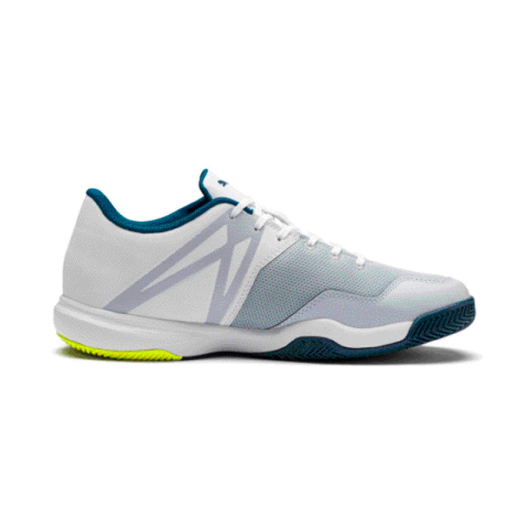 Thumbnail 5 of Explode XT 3 Men's Indoor Sports Performance Trainers, White-Grey-Yellow-Gibraltar, medium-IND