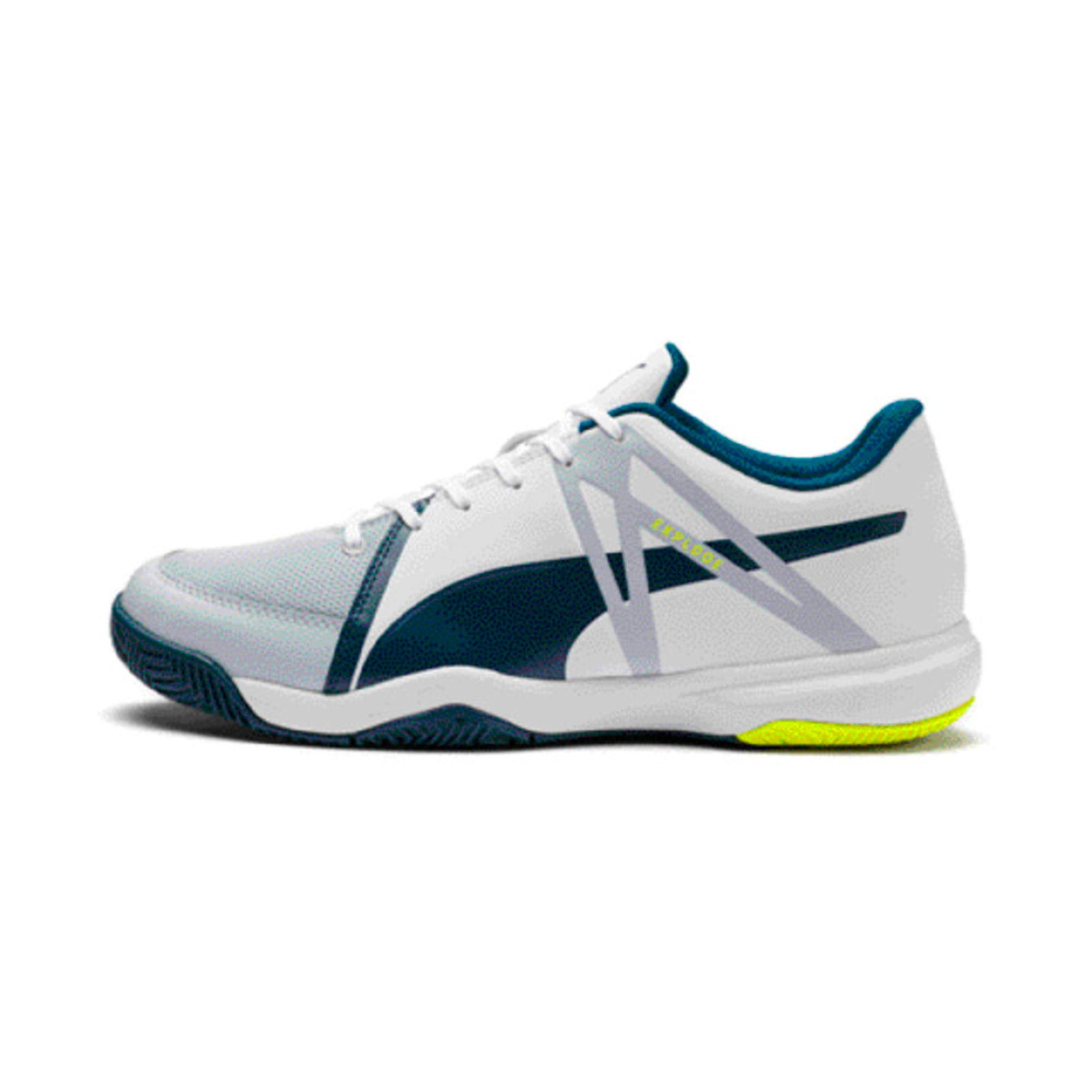 Thumbnail 1 of Explode XT 3 Men's Indoor Sports Performance Trainers, White-Grey-Yellow-Gibraltar, medium-IND