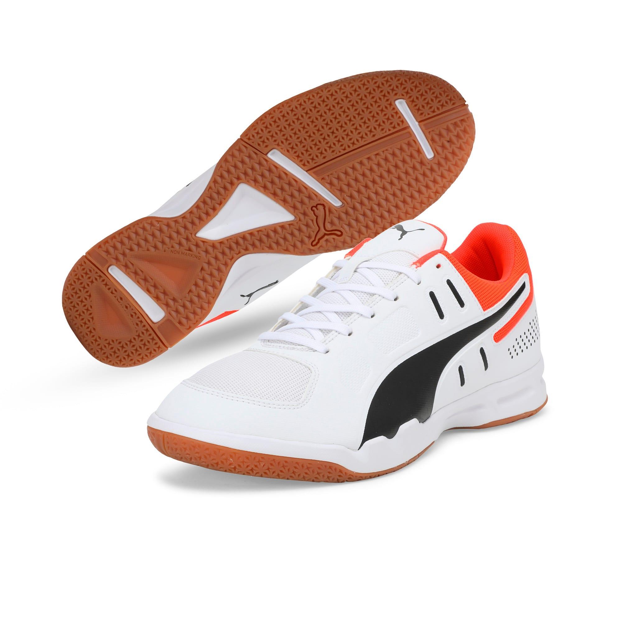 Thumbnail 4 of Auriz Indoor Sport Men's Trainers, White-Black-Nrgy Red-Gum, medium-IND