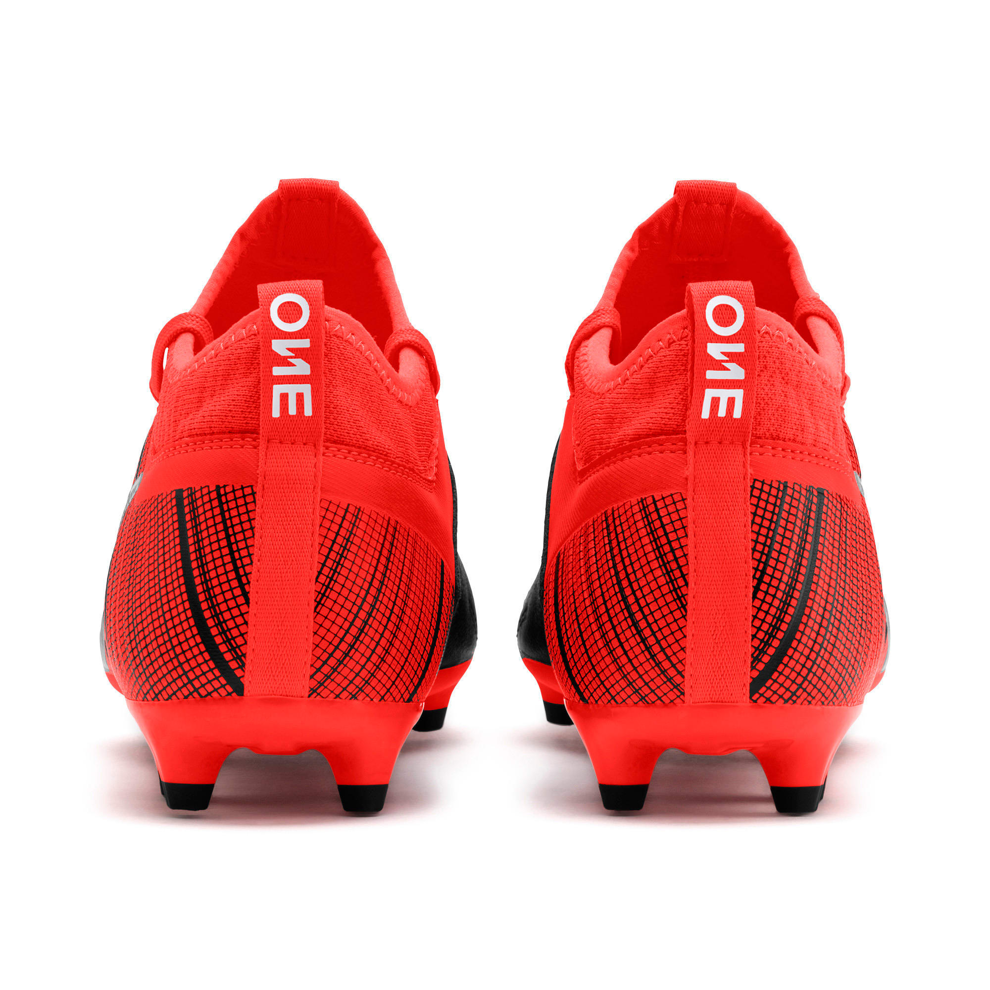 Thumbnail 4 of PUMA ONE 5.3 FG/AG Men's Football Boots, Black-Nrgy Red-Aged Silver, medium-IND