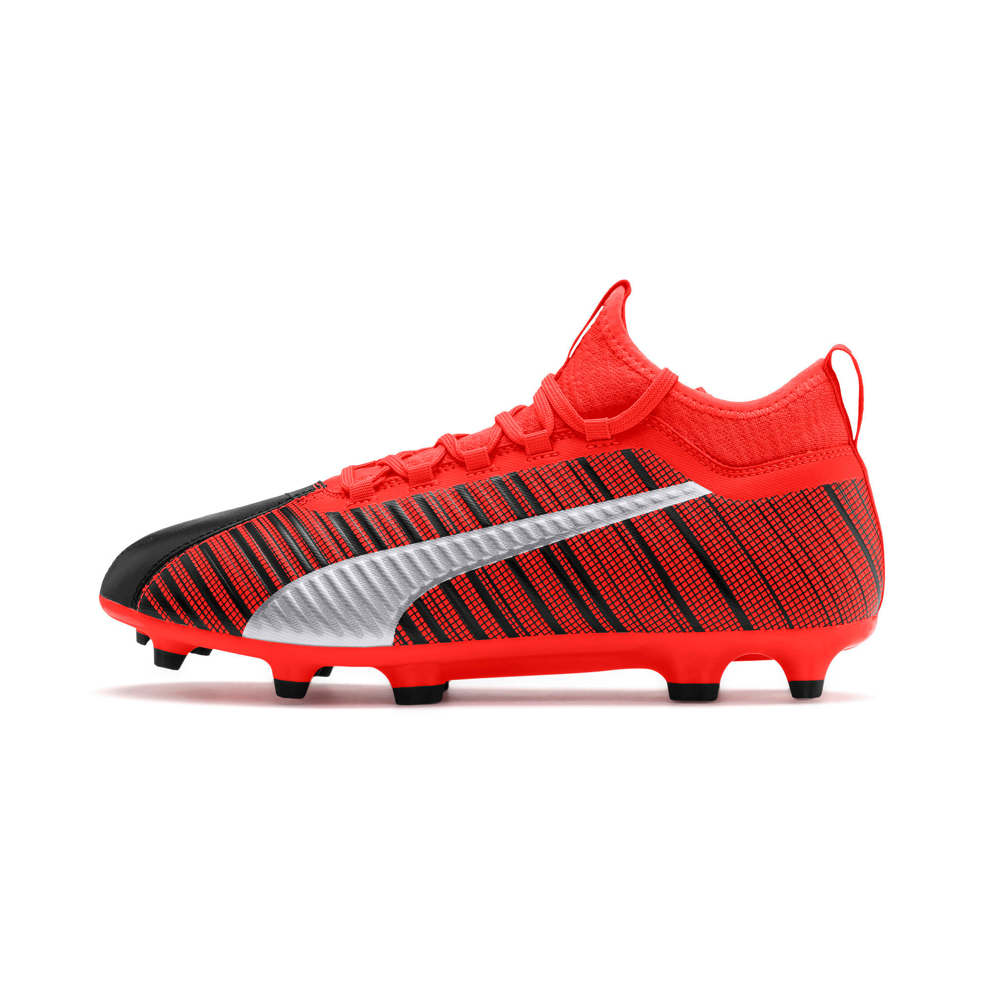 Thumbnail 1 of PUMA ONE 5.3 FG/AG Men's Football Boots, Black-Nrgy Red-Aged Silver, medium-IND