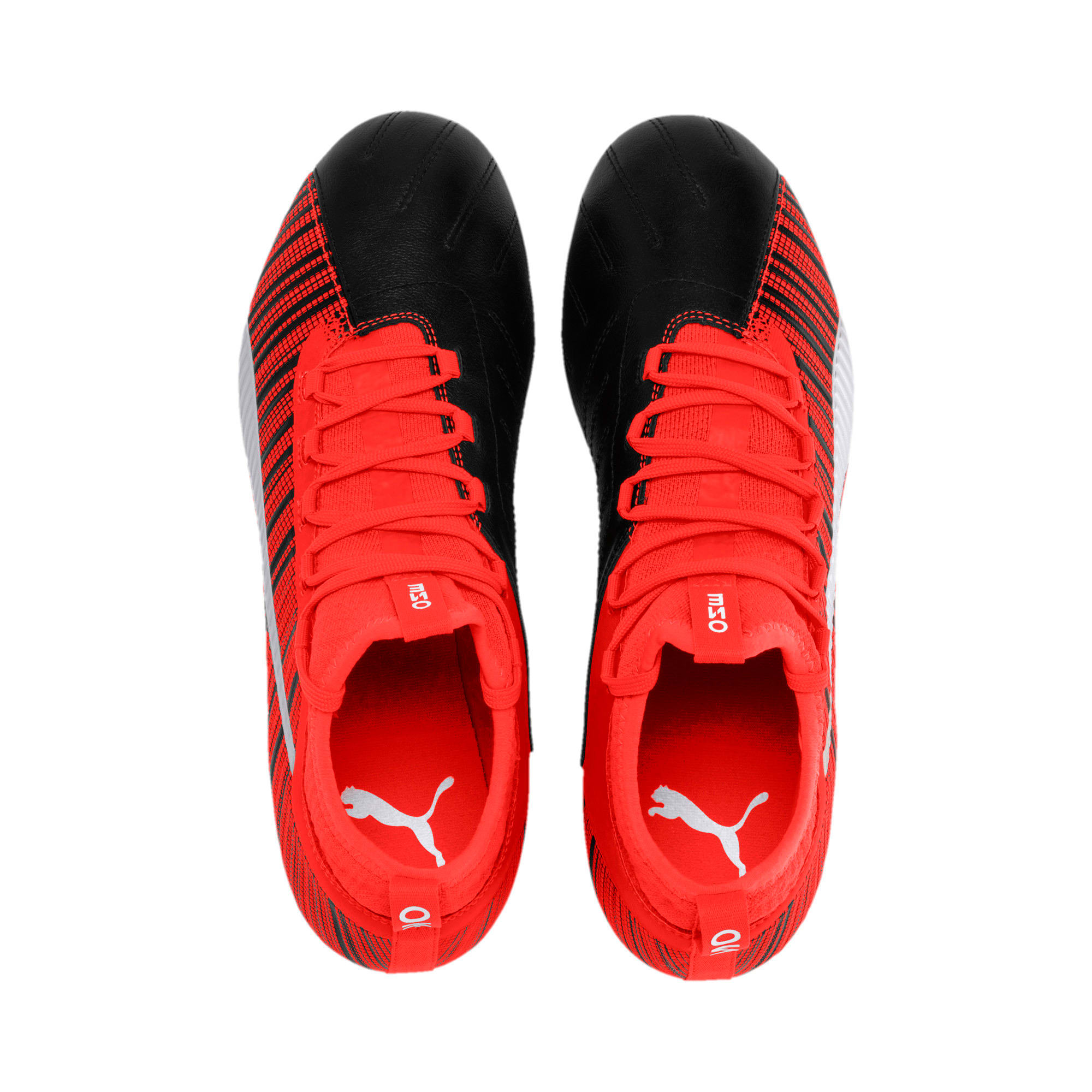 Thumbnail 7 of PUMA ONE 5.3 FG/AG Men's Football Boots, Black-Nrgy Red-Aged Silver, medium