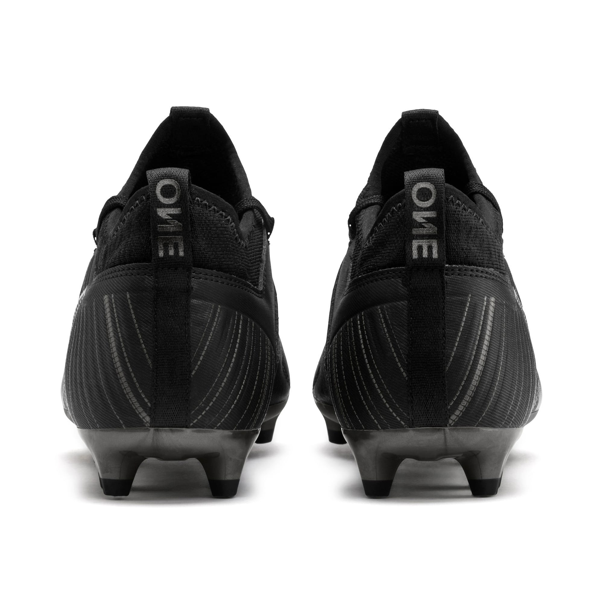 Thumbnail 4 of PUMA ONE 5.3 FG/AG Men's Football Boots, Black-Black-Puma Aged Silver, medium