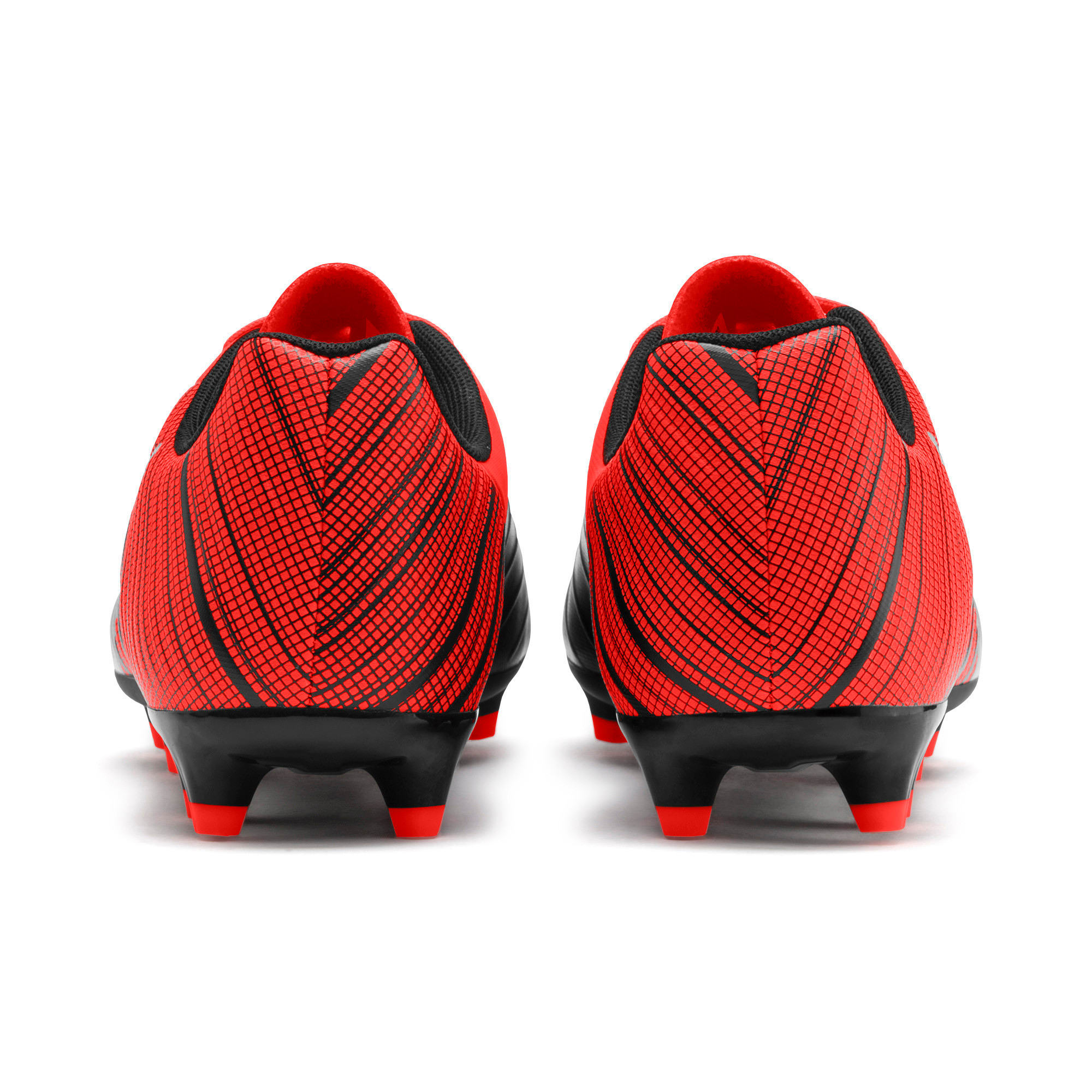 Thumbnail 4 of PUMA ONE 5.4 FG/AG Men's Soccer Cleats, Black-Nrgy Red-Aged Silver, medium