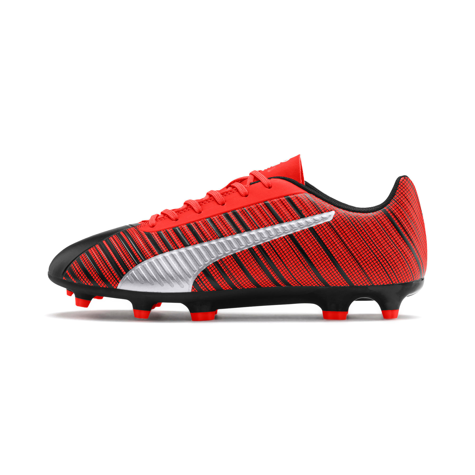 Thumbnail 1 of PUMA ONE 5.4 Men's FG/AG Football Boots, Black-Nrgy Red-Aged Silver, medium