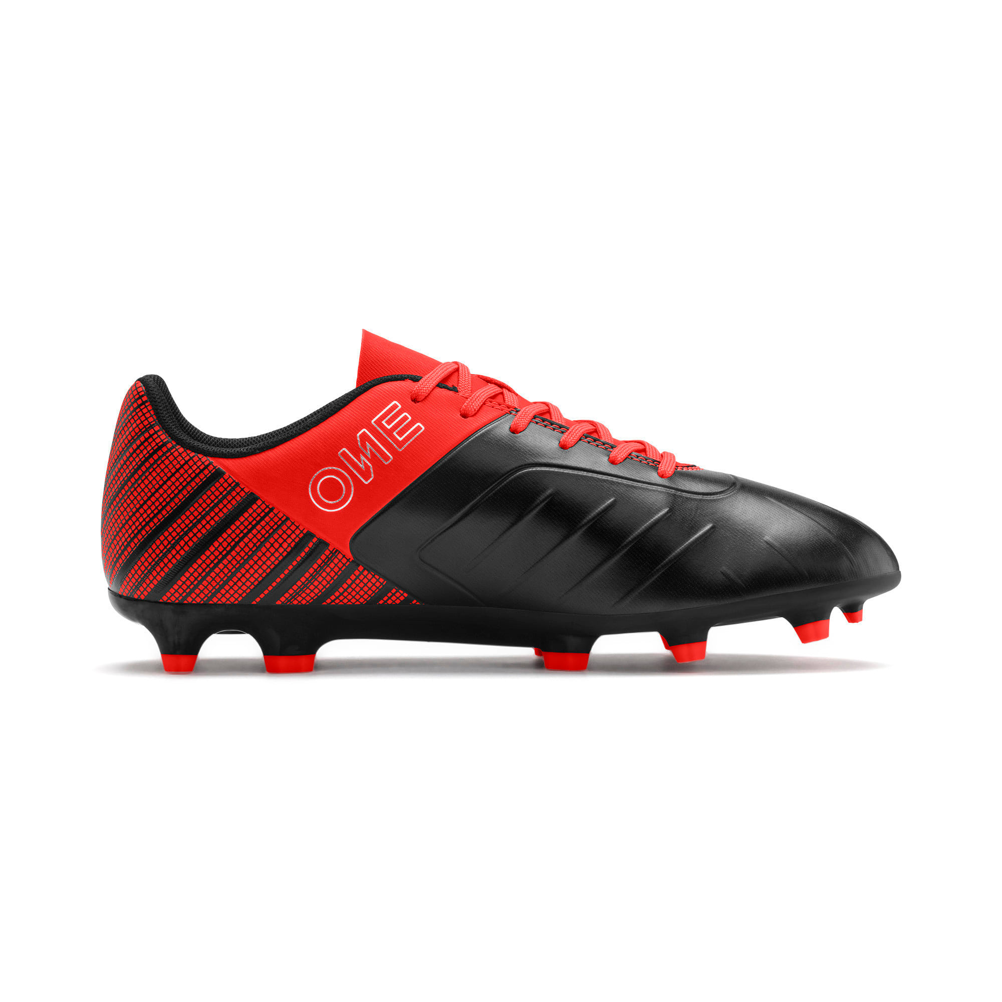 Thumbnail 6 of PUMA ONE 5.4 Men's FG/AG Football Boots, Black-Nrgy Red-Aged Silver, medium
