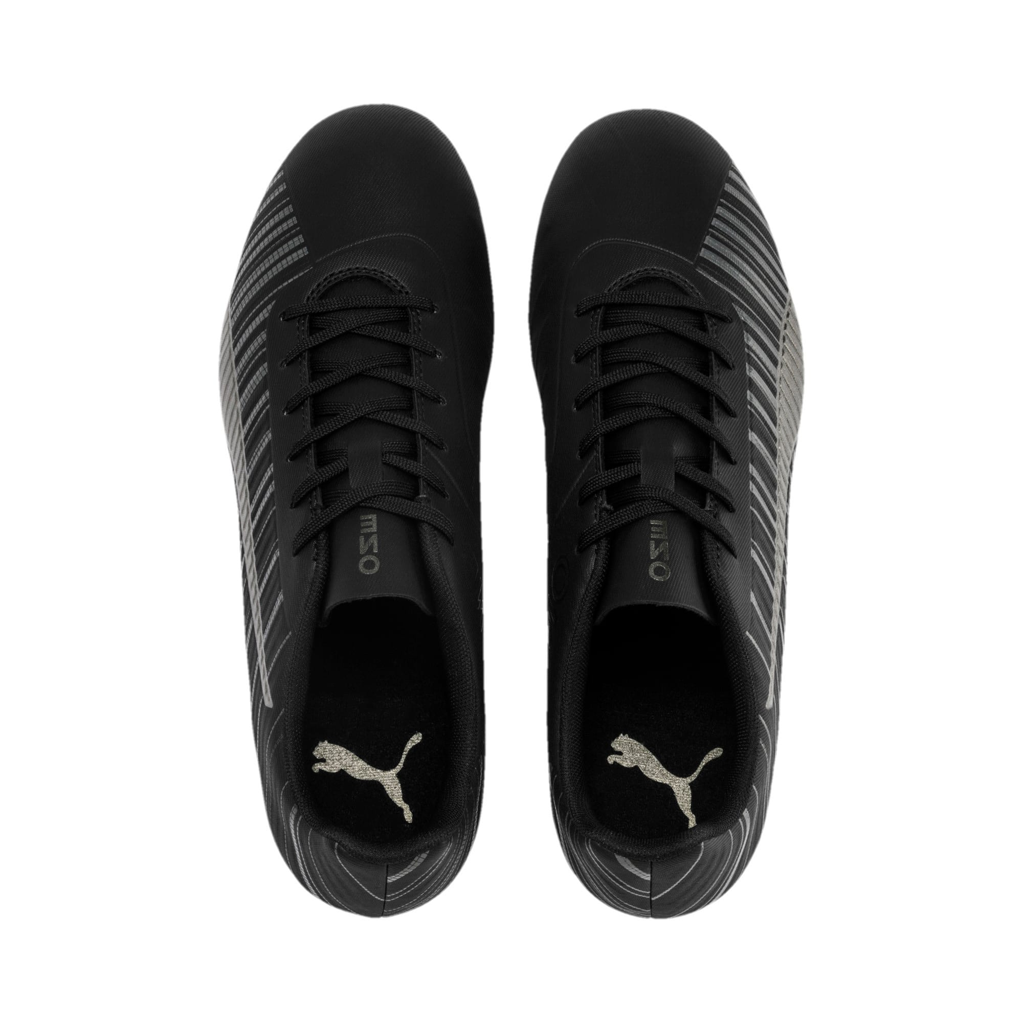 Thumbnail 4 of PUMA ONE 5.4 Men's FG/AG Football Boots, Black-Black-Puma Aged Silver, medium-IND