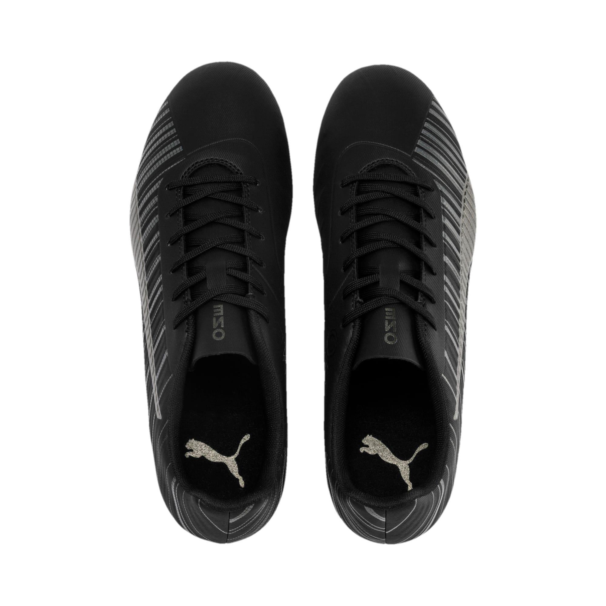 Thumbnail 7 of PUMA ONE 5.4 FG/AG Men's Soccer Cleats, Black-Black-Puma Aged Silver, medium