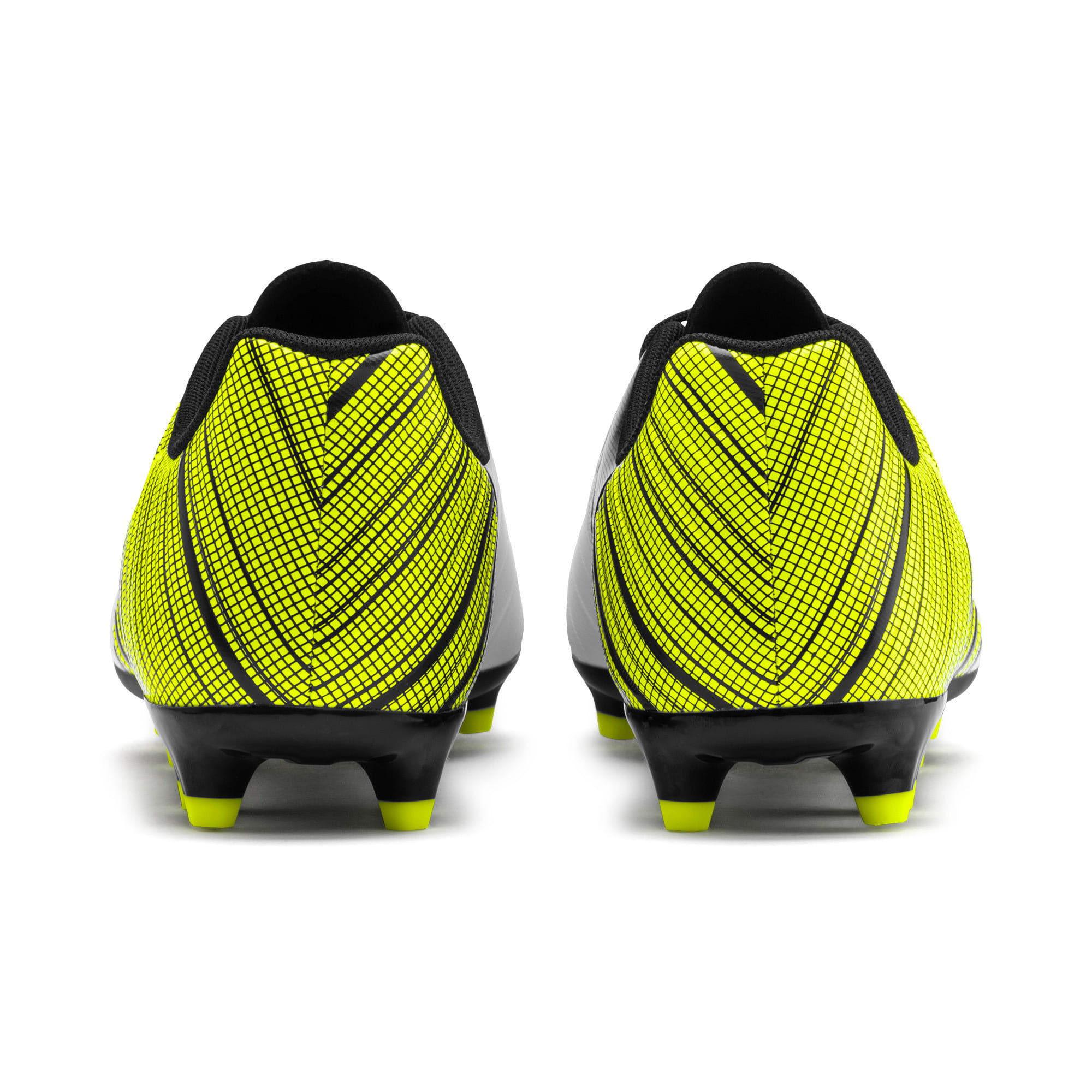Thumbnail 4 of PUMA ONE 5.4 Men's FG/AG Football Boots, White-Black-Yellow Alert, medium