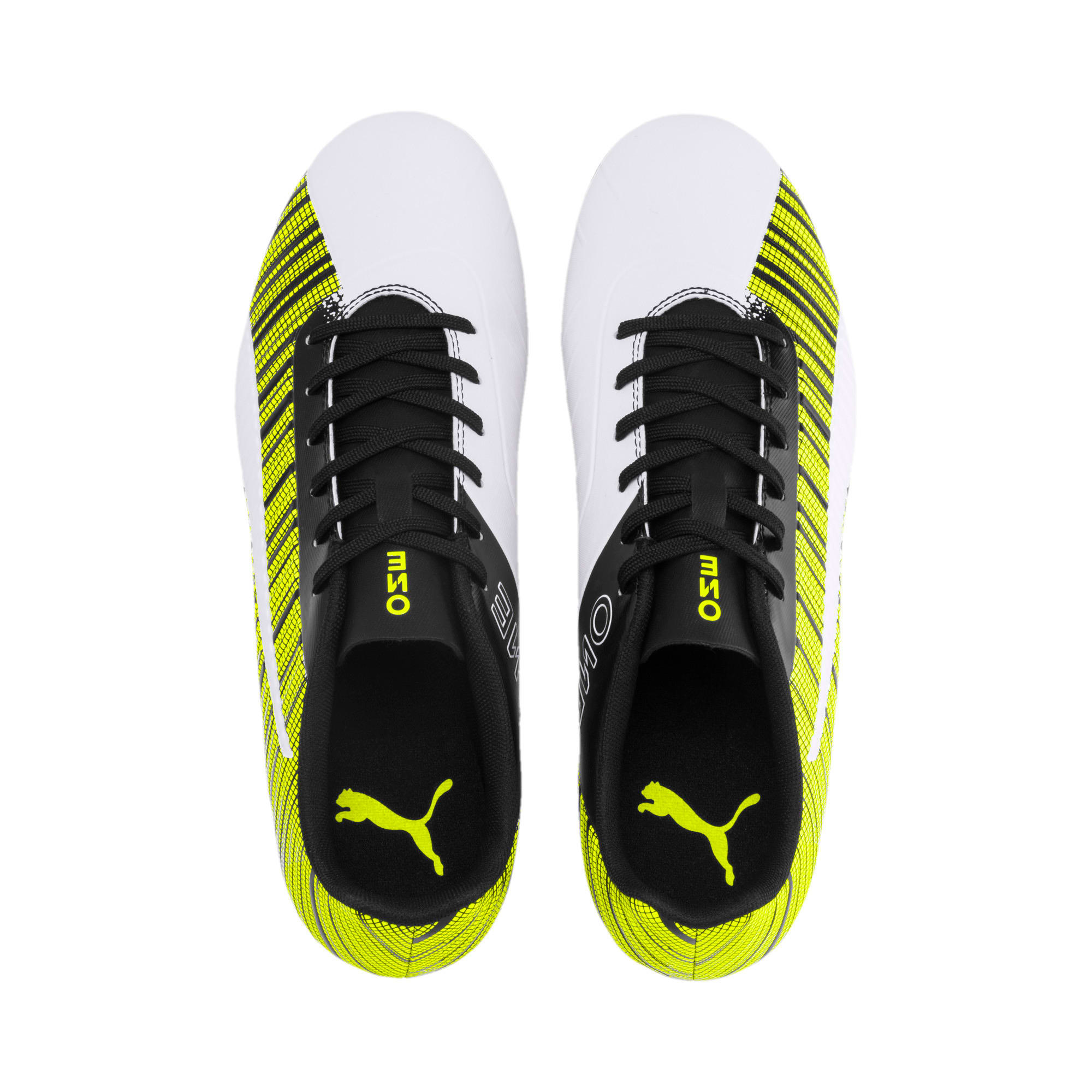 Thumbnail 7 of PUMA ONE 5.4 Men's FG/AG Football Boots, White-Black-Yellow Alert, medium