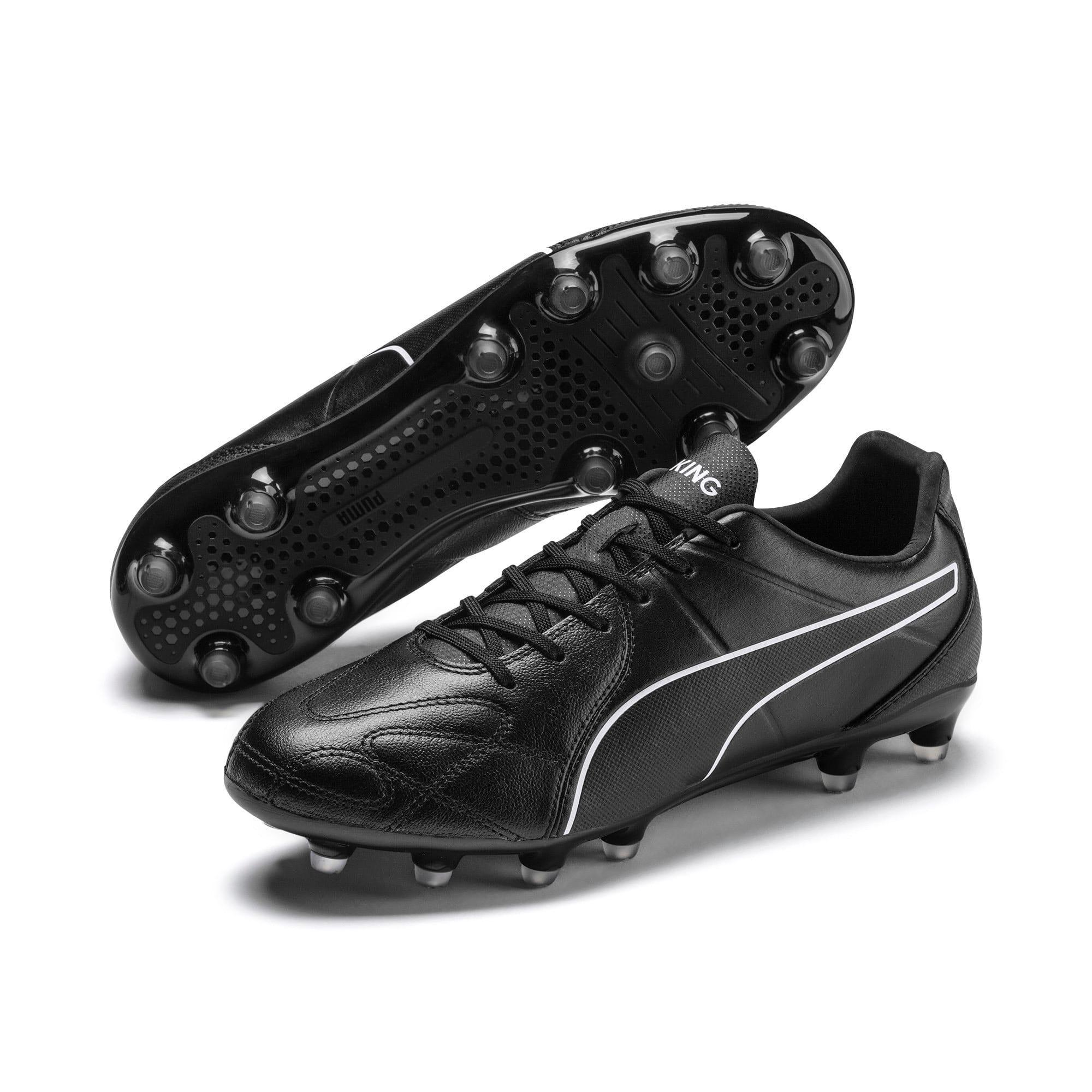 Thumbnail 4 of KING Hero FG Football Boots, Puma Black-Puma White, medium-IND