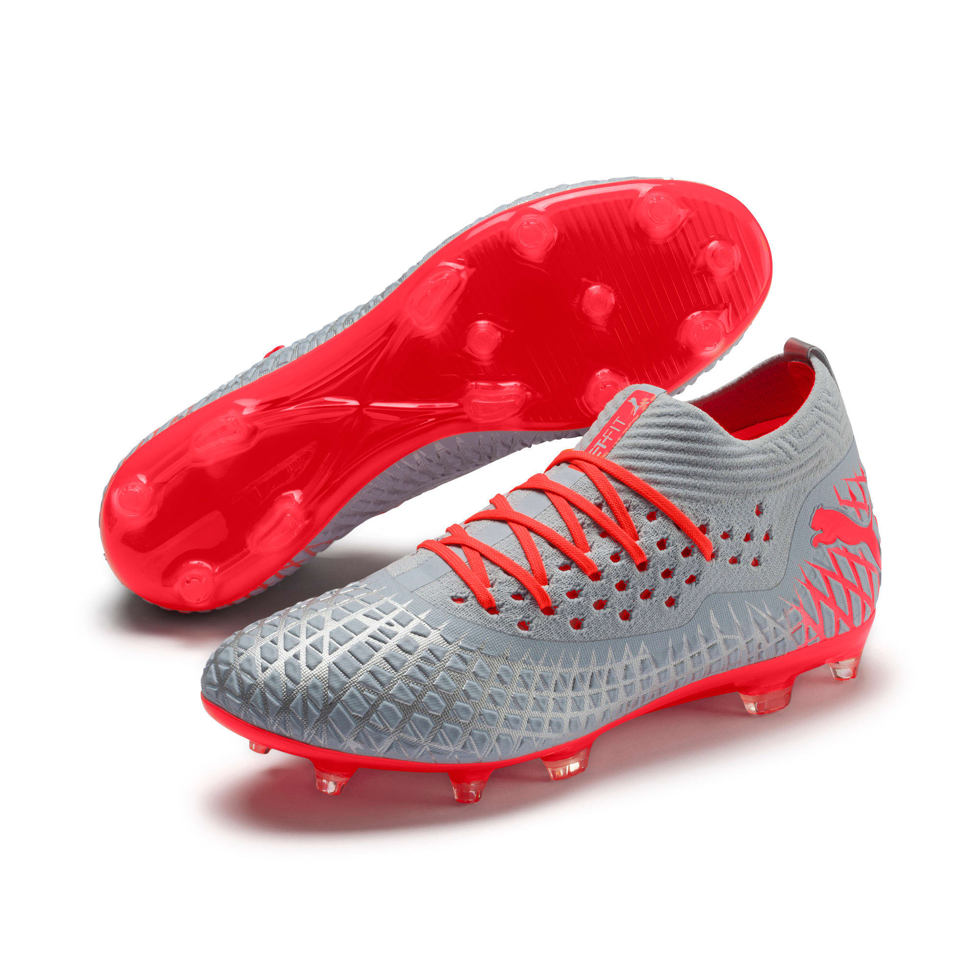 Thumbnail 3 of FUTURE 4.2 NETFIT FG/AG Men's Football Boots, Glacial Blue-Nrgy Red, medium